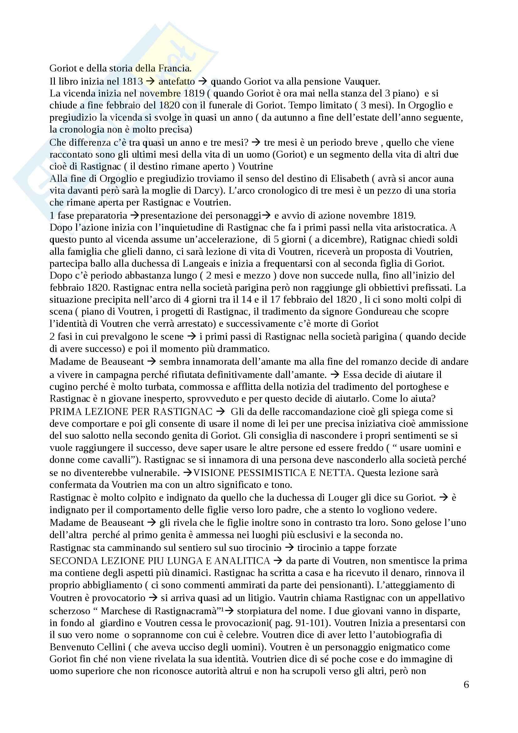 Letteratura italiana - Papa Goriot Pag. 6