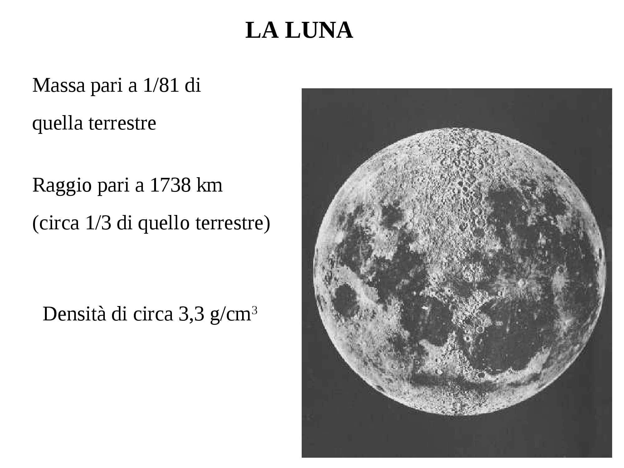 Luna - Struttura e fasi