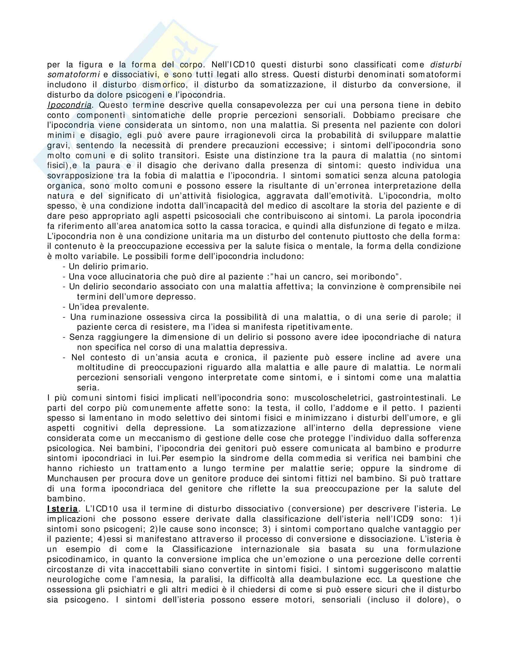 Riassunto esame Neuropsicologia, prof. indefinito, libro consigliato Introduzione alla Psicopatologia Descrittiva, Sims Pag. 26