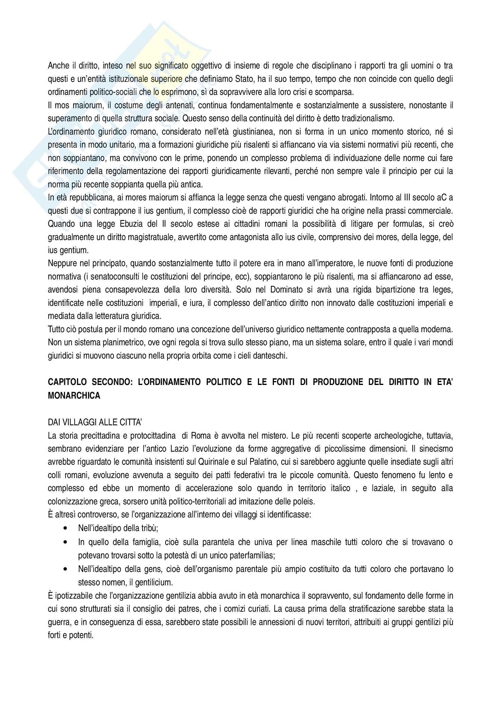 Riassunto esame Storia del diritto romano, prof. Arnese, libro consigliato Corso di storia del diritto romano, Masiello Pag. 2