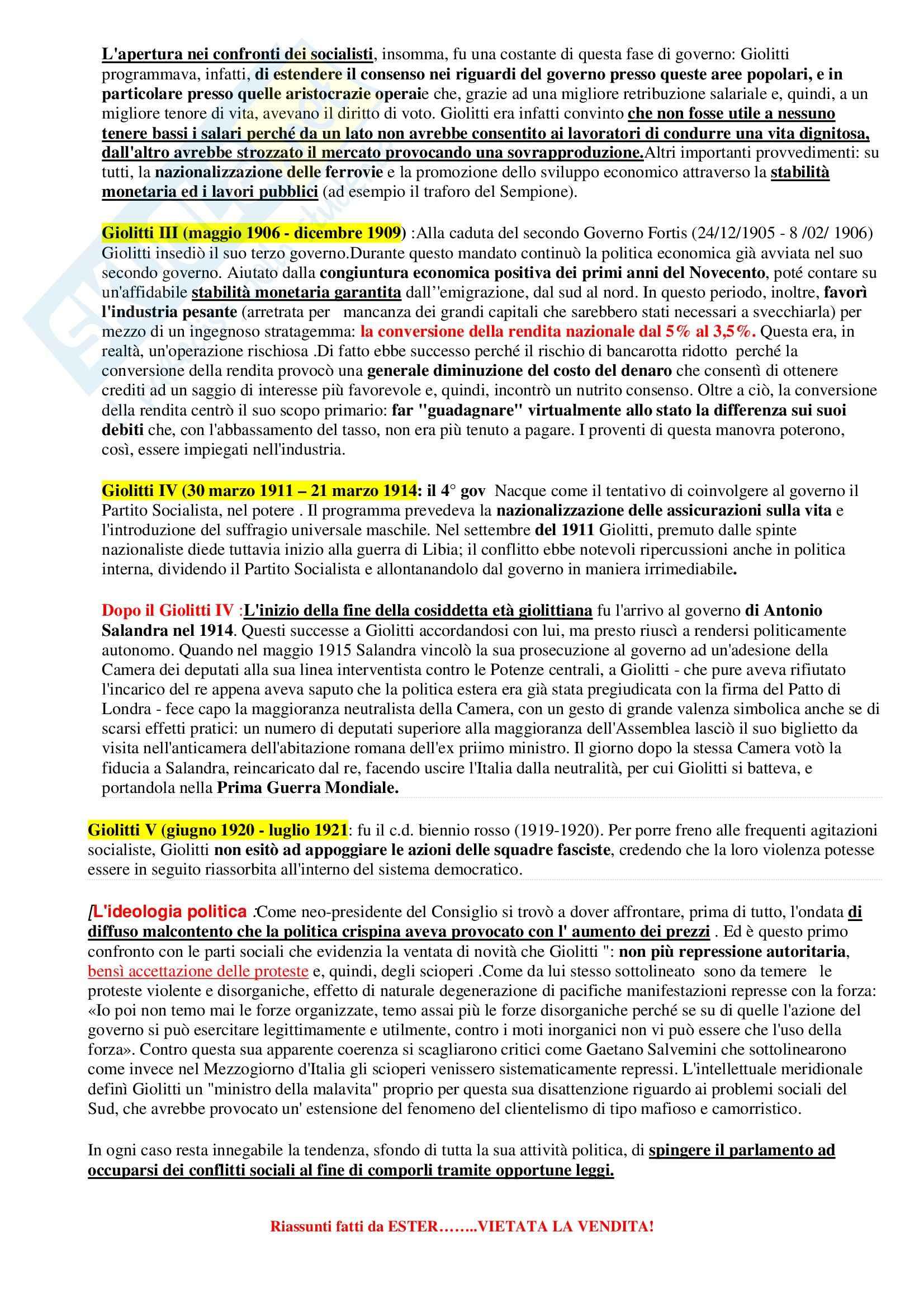 Riassunto esame Storia del Diritto Medievale e Moderno, prof. Sigismondi, libro consigliato Storia Costituzionale d'Italia, Ghisalberti Pag. 46