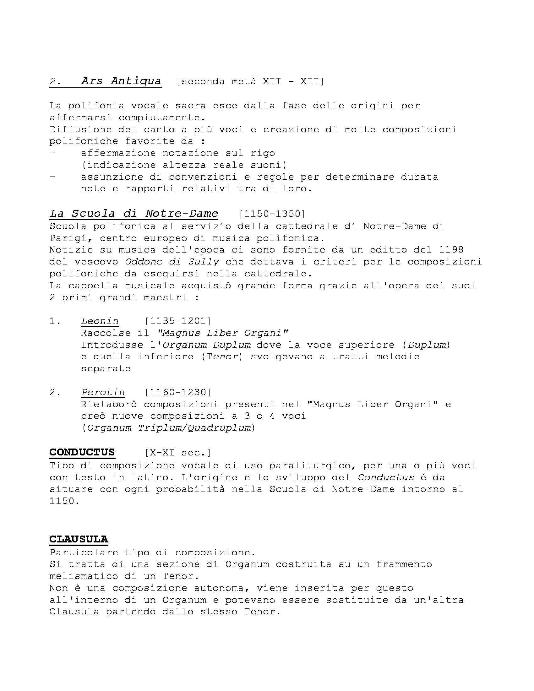 Storia delle Forme e Repertori Musicali 1 - Appunti Pag. 11