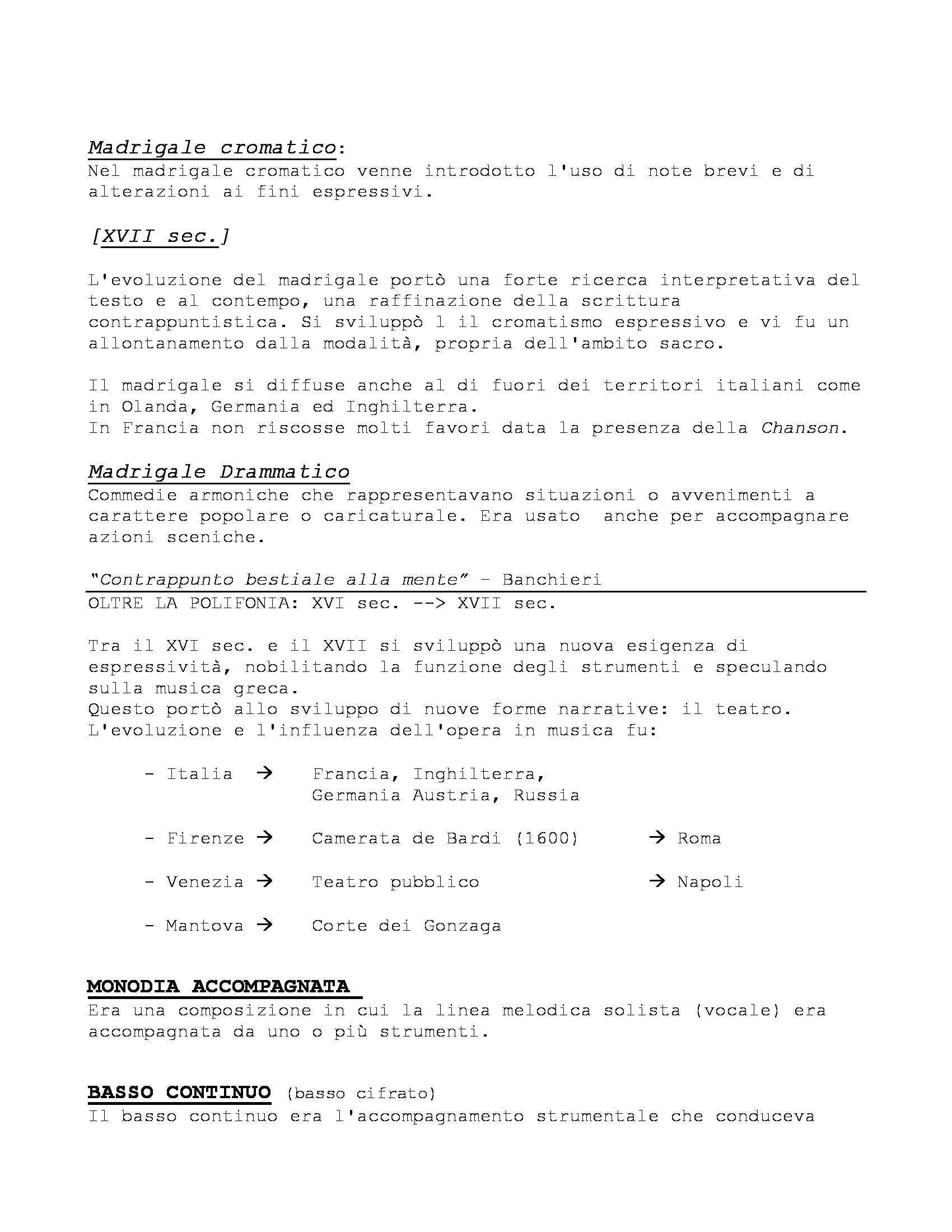 Storia delle Forme e Repertori Musicali 1 - Appunti Pag. 21