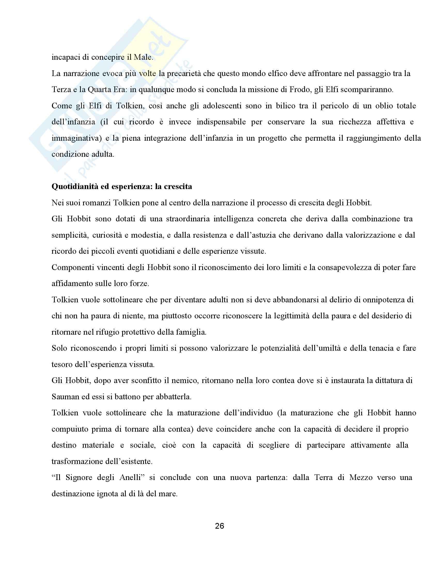 Riassunto esame Pedagogia, prof. Barone, libro consigliato La terra di mezzo, Mantegazza Pag. 26