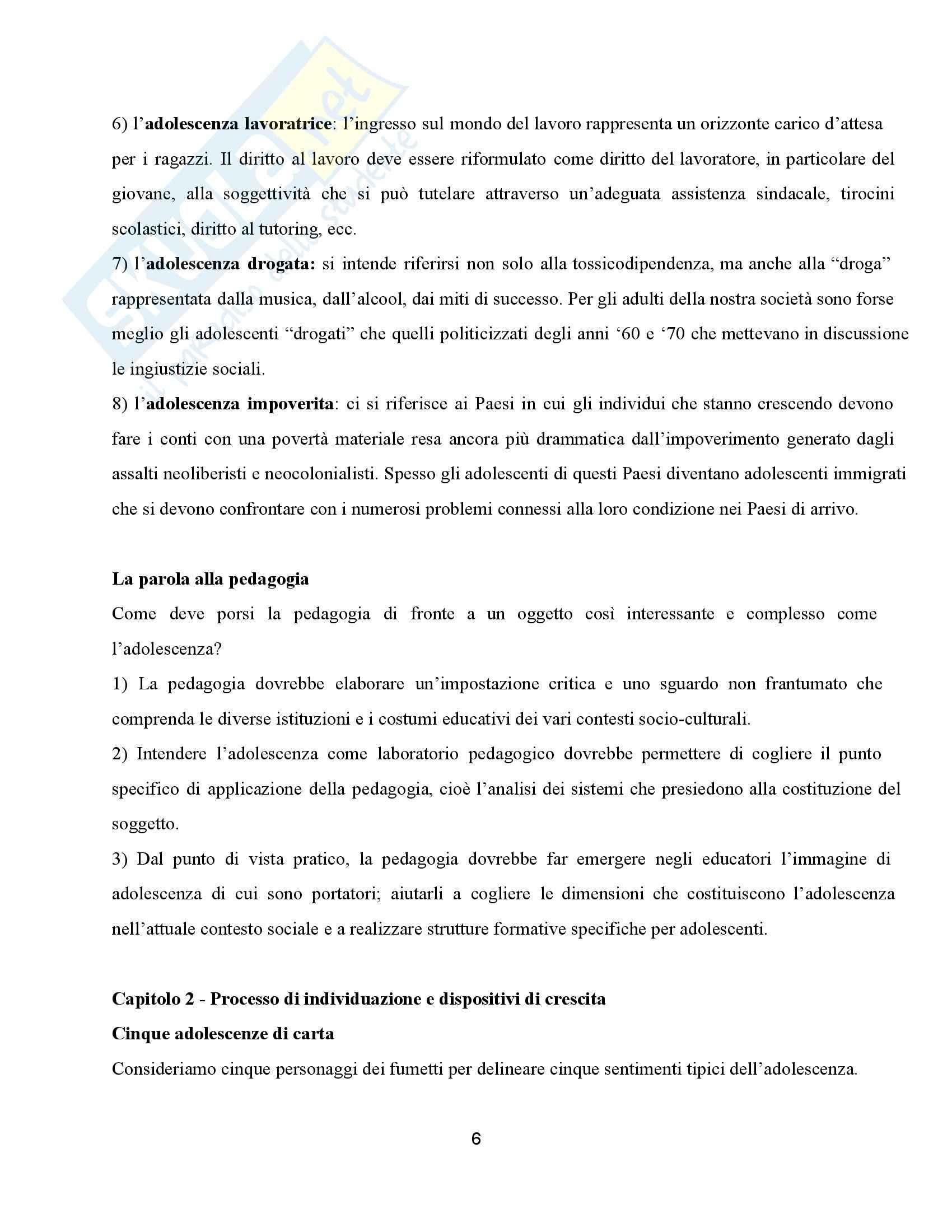 Riassunto esame Pedagogia, prof. Barone, libro consigliato La terra di mezzo, Mantegazza Pag. 6