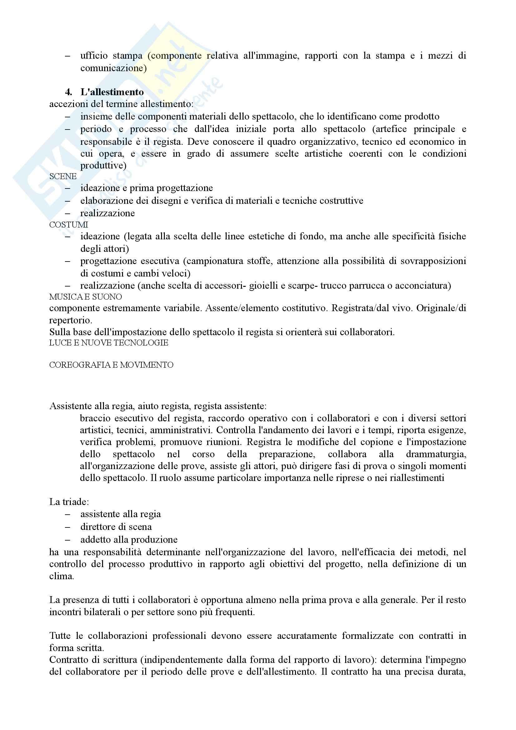 Riassunto esame Economia e Organizzazione dello Spettacolo, prof. Casari, libro consigliato Organizzare Teatro, Gallina Pag. 16