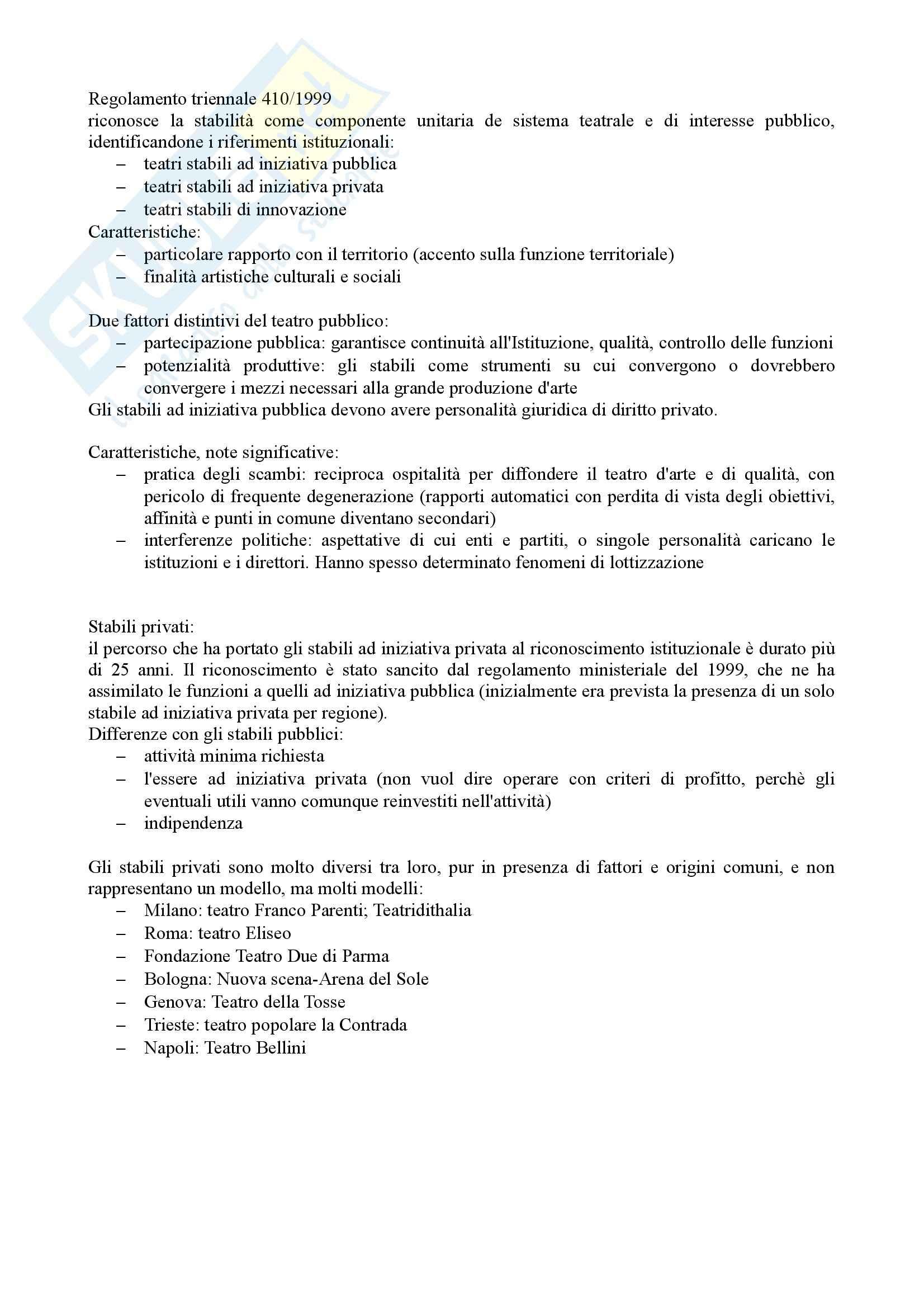 Riassunto esame Economia e Organizzazione dello Spettacolo, prof. Casari, libro consigliato Organizzare Teatro, Gallina Pag. 6