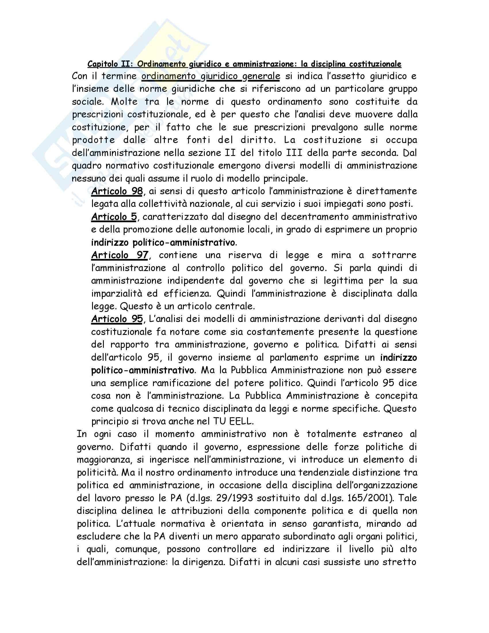 Riassunto esame Diritto, prof. Alì, libro consigliato Manuale di Diritto amministrativo, Casetta