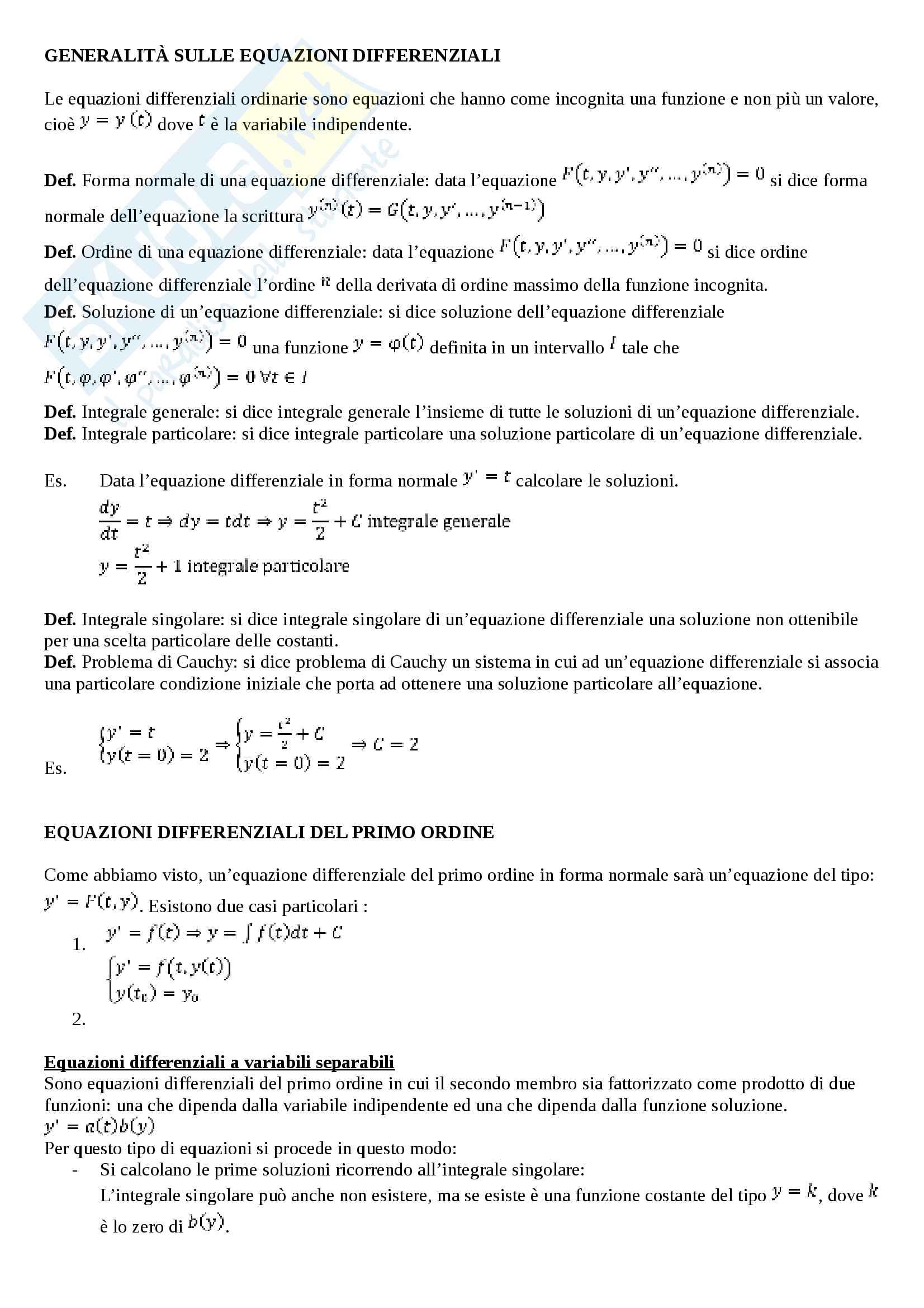 Appunti analisi matematica 2