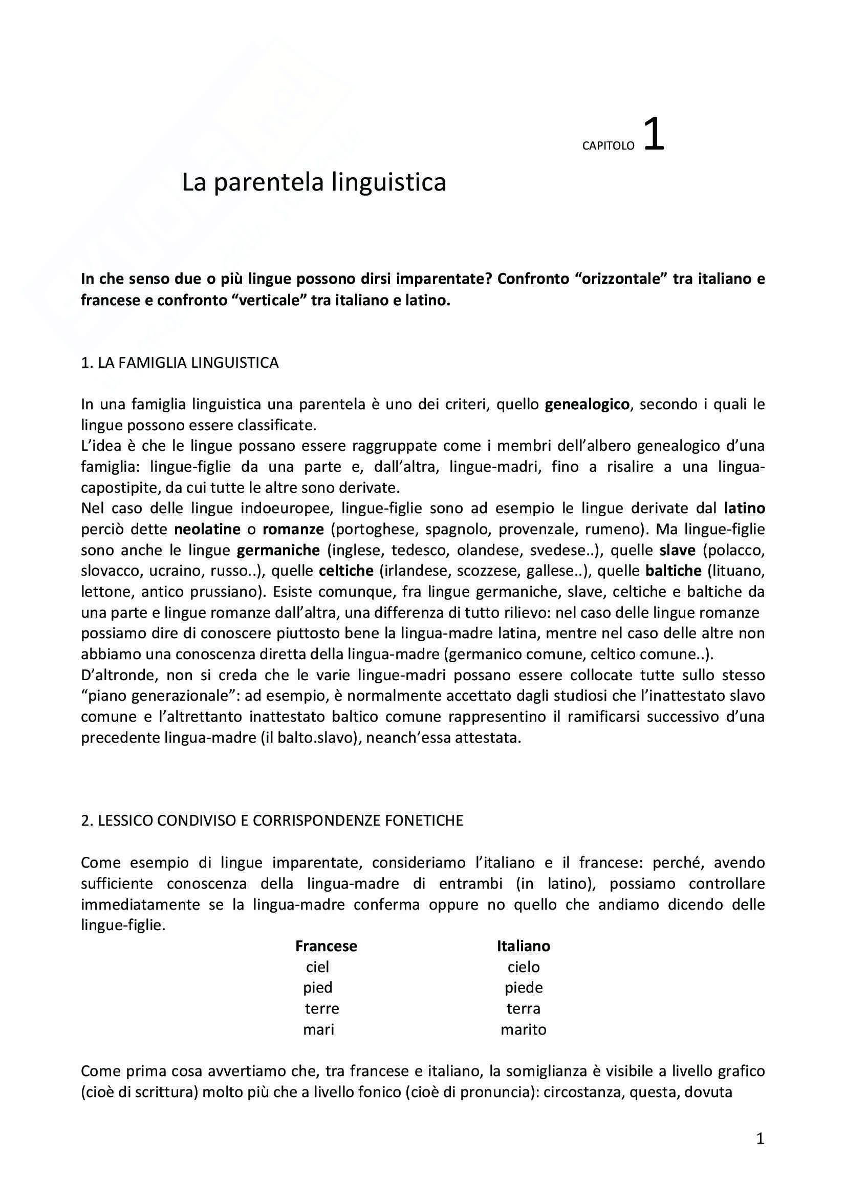 Riassunto esame Glottologia, prof.ssa Franchi, libro consigliato Introduzione alla linguistica storica, F. Fanciullo