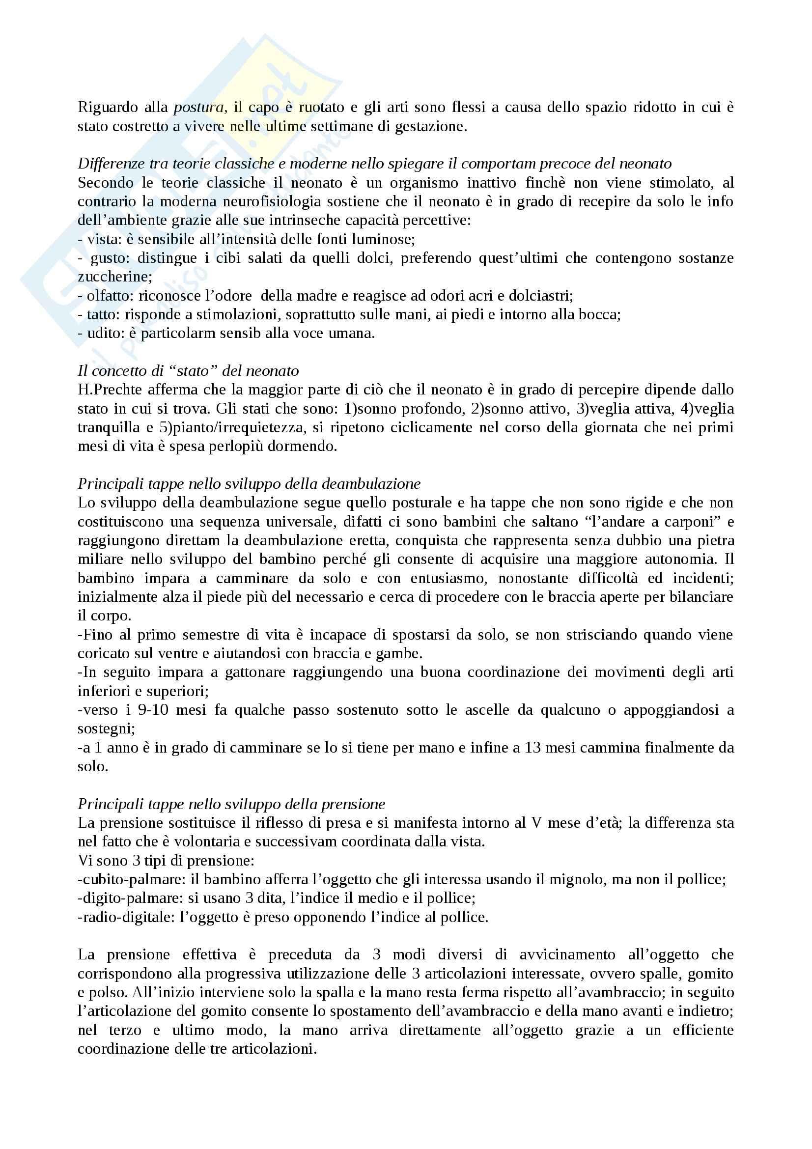 Riassunto esame Psicologia dello sviluppo, prof. Carugati, libro consigliato, Camaioni, Di Blasio Pag. 6