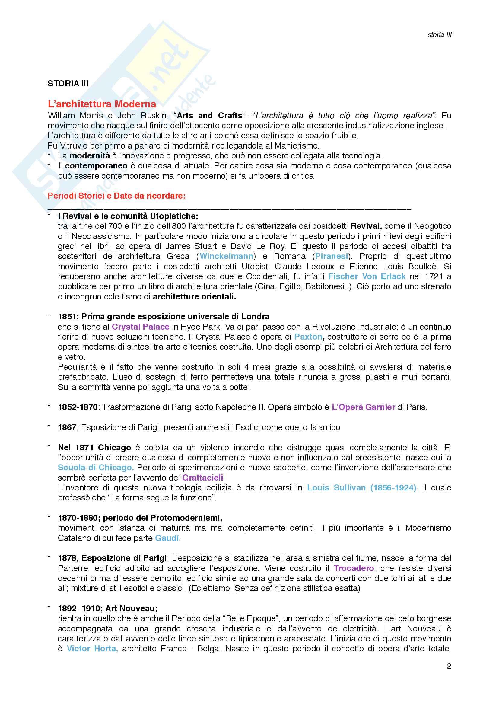 Storia III_Architettura Moderna Pag. 2