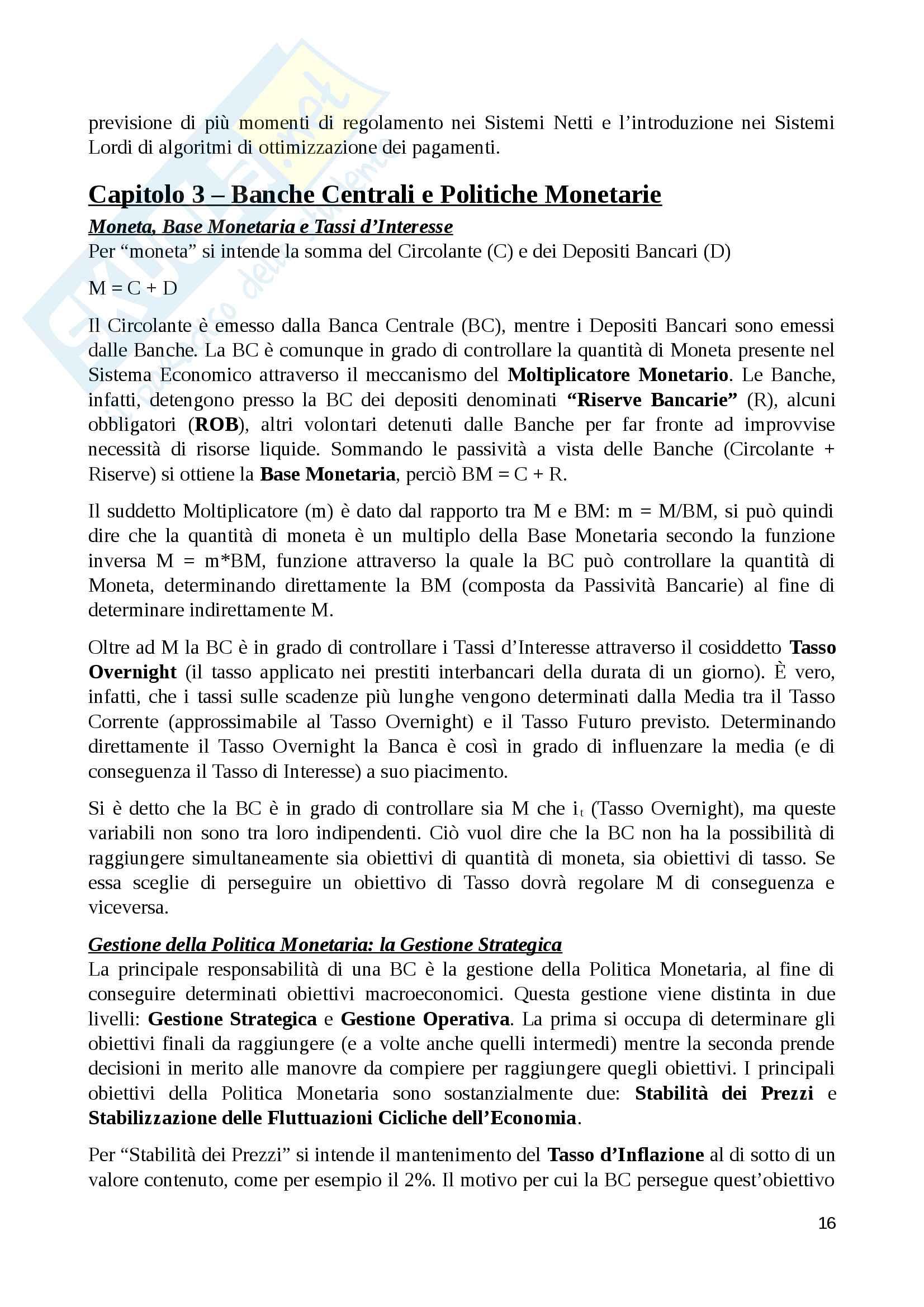Riassunto economia degli intermediari finanziari, prof. Murè/La Torre Pag. 16