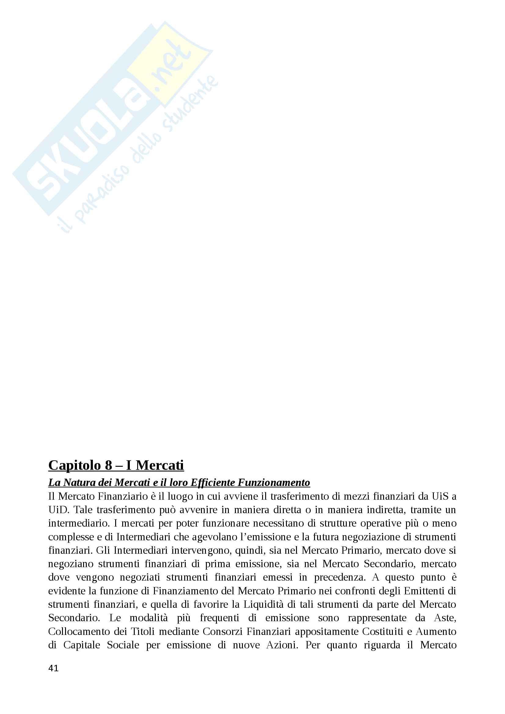 Riassunto economia degli intermediari finanziari, prof. Murè/La Torre Pag. 41