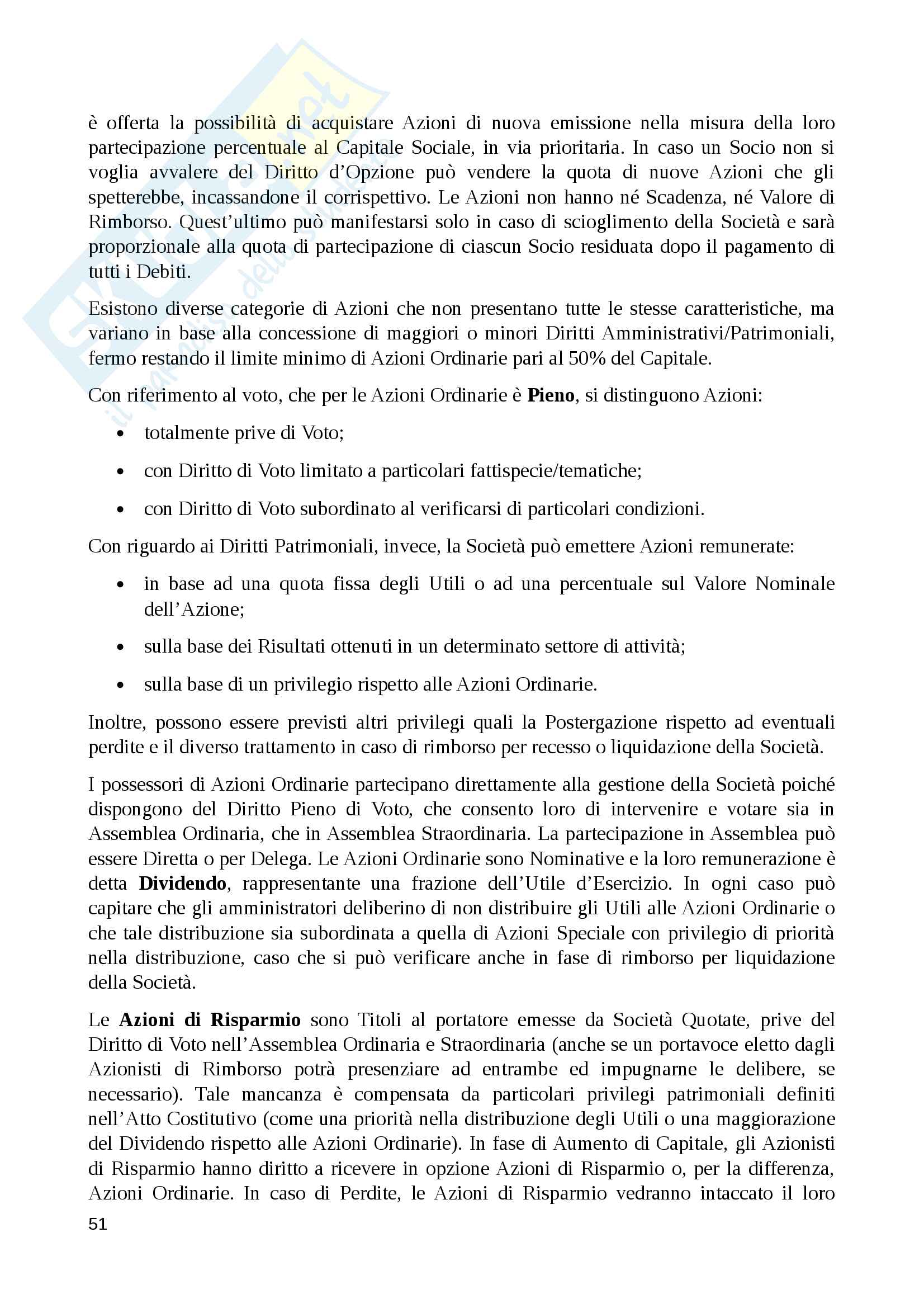 Riassunto economia degli intermediari finanziari, prof. Murè/La Torre Pag. 51