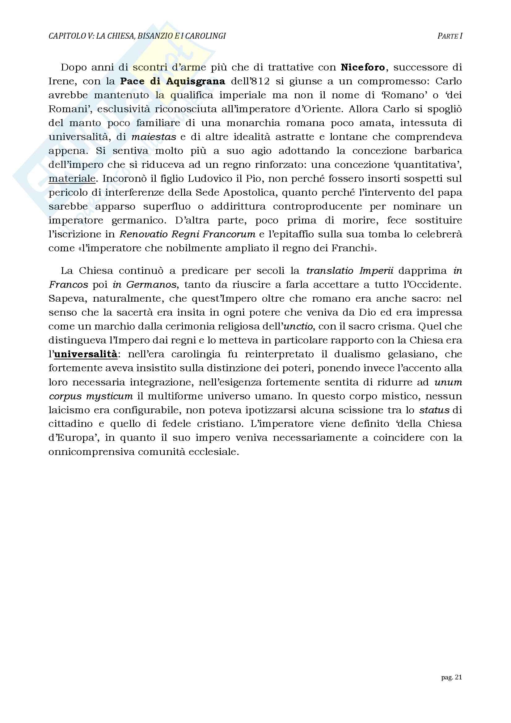 Riassunti esame Storia del Diritto Medievale, prof. Mezinger, libro consigliato Le grandi linee della storia giuridica medievale, Cortese Pag. 21