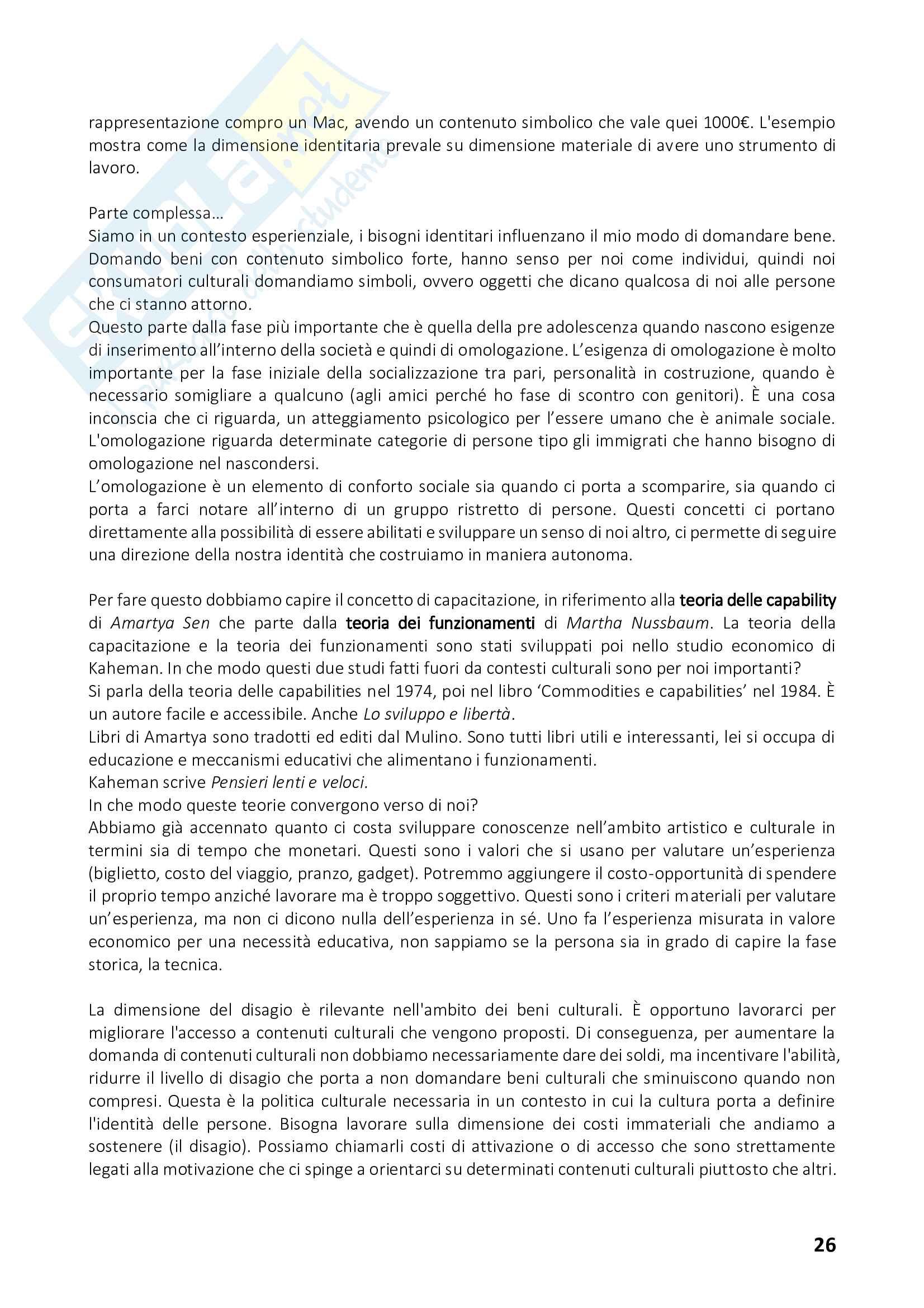 Appunti di Istituzioni e Politiche Culturali - II Modulo - Prof. Pedrini Pag. 26
