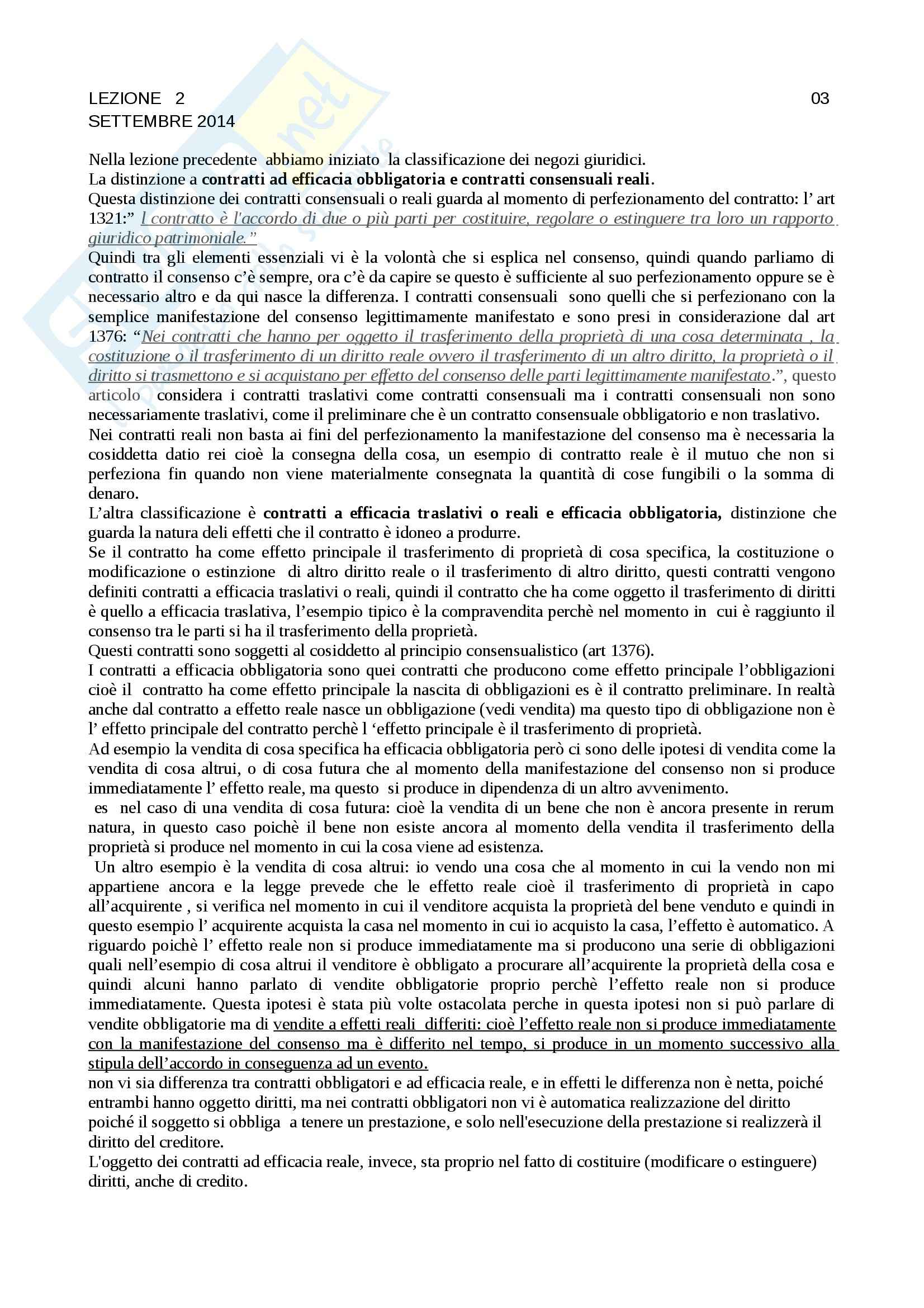 appunto R. Caprioli Diritto Privato