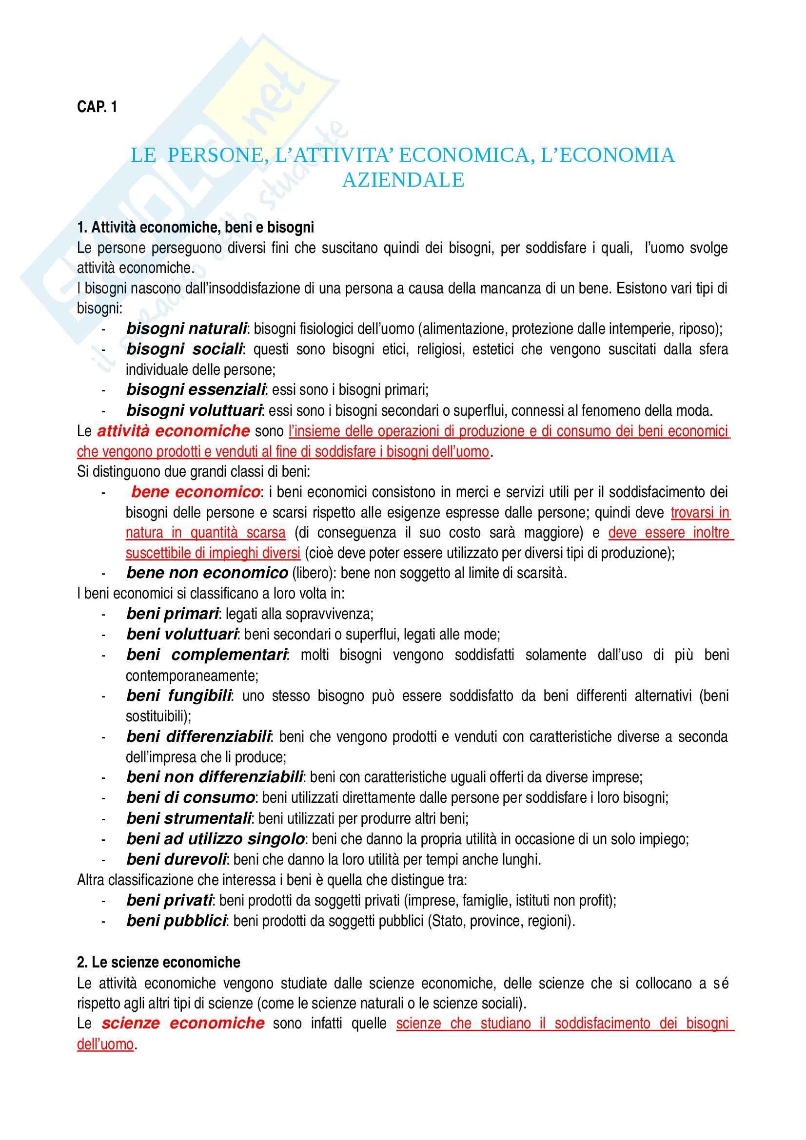 Riassunto esame Economia aziendale, prof. Confalonieri, libro consigliato Corso di economia aziendale, Airoldi, Brunetti, Coda