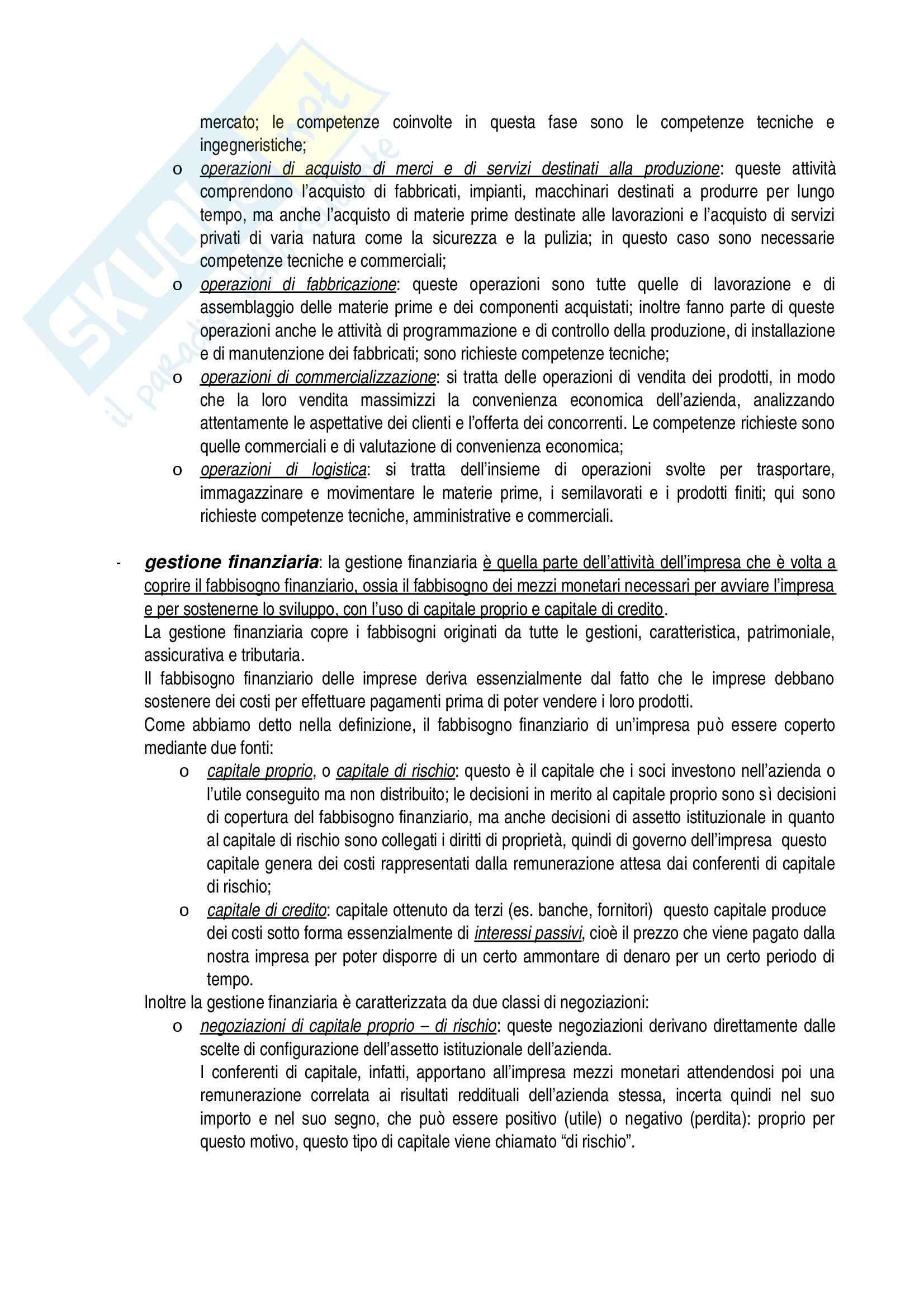 Riassunto esame Economia aziendale, prof. Confalonieri, libro consigliato Corso di economia aziendale, Airoldi, Brunetti, Coda Pag. 11