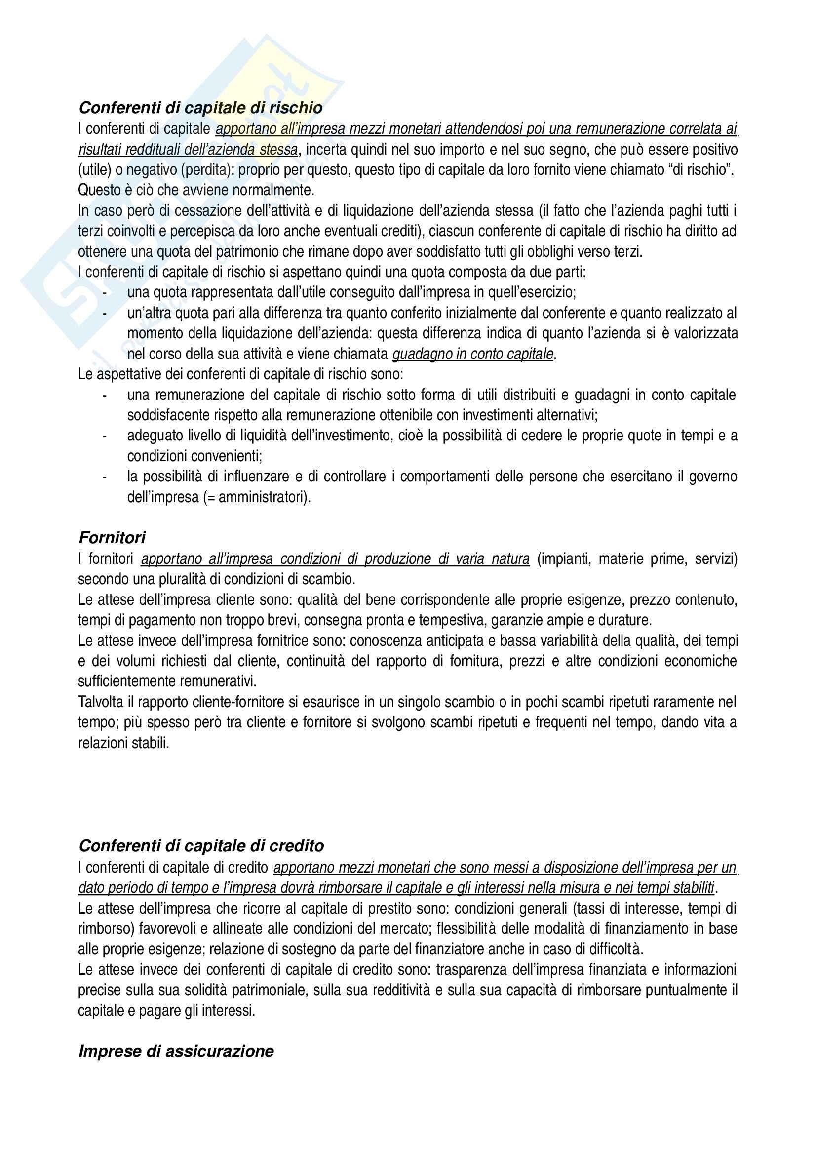 Riassunto esame Economia aziendale, prof. Confalonieri, libro consigliato Corso di economia aziendale, Airoldi, Brunetti, Coda Pag. 16