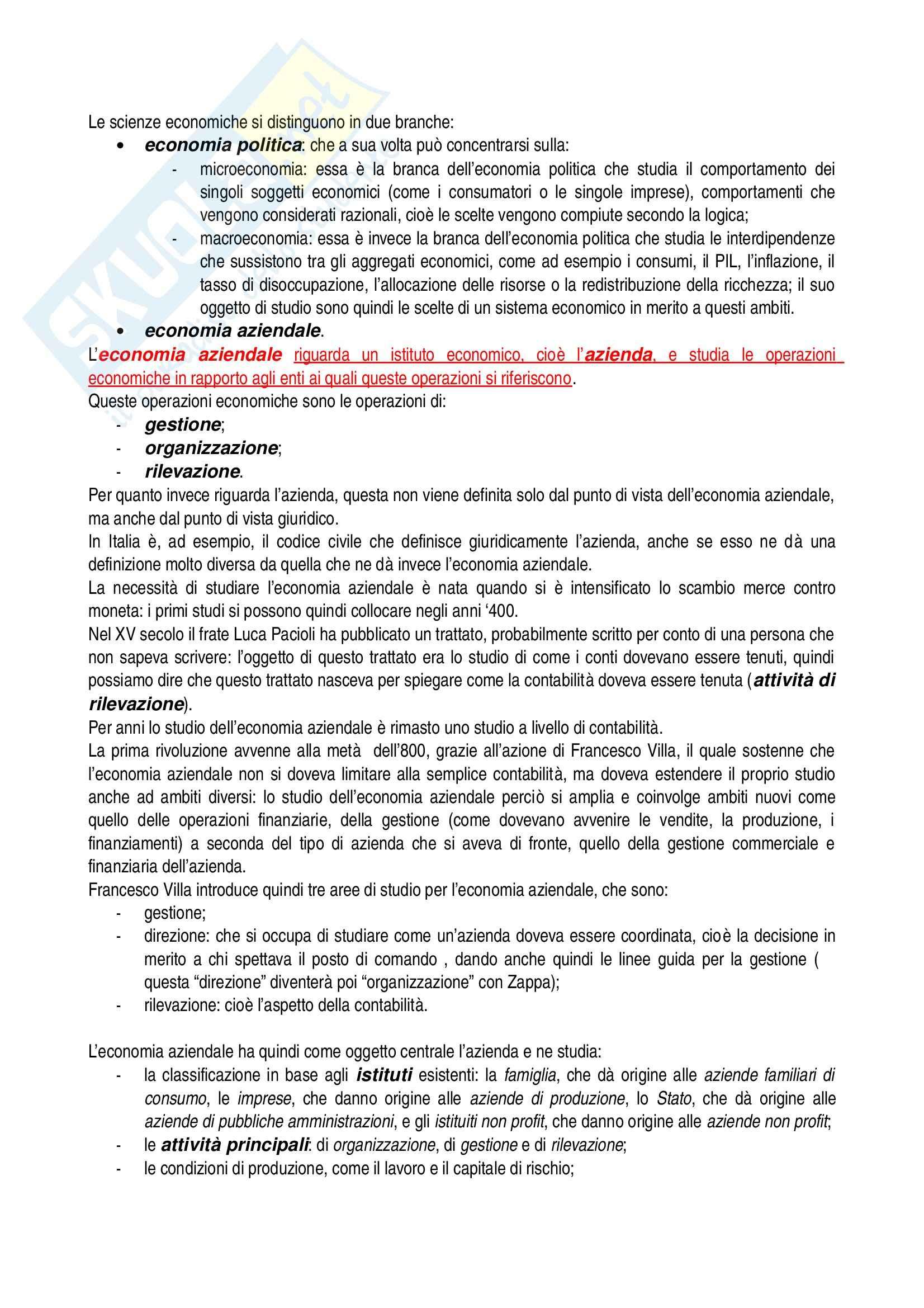 Riassunto esame Economia aziendale, prof. Confalonieri, libro consigliato Corso di economia aziendale, Airoldi, Brunetti, Coda Pag. 2