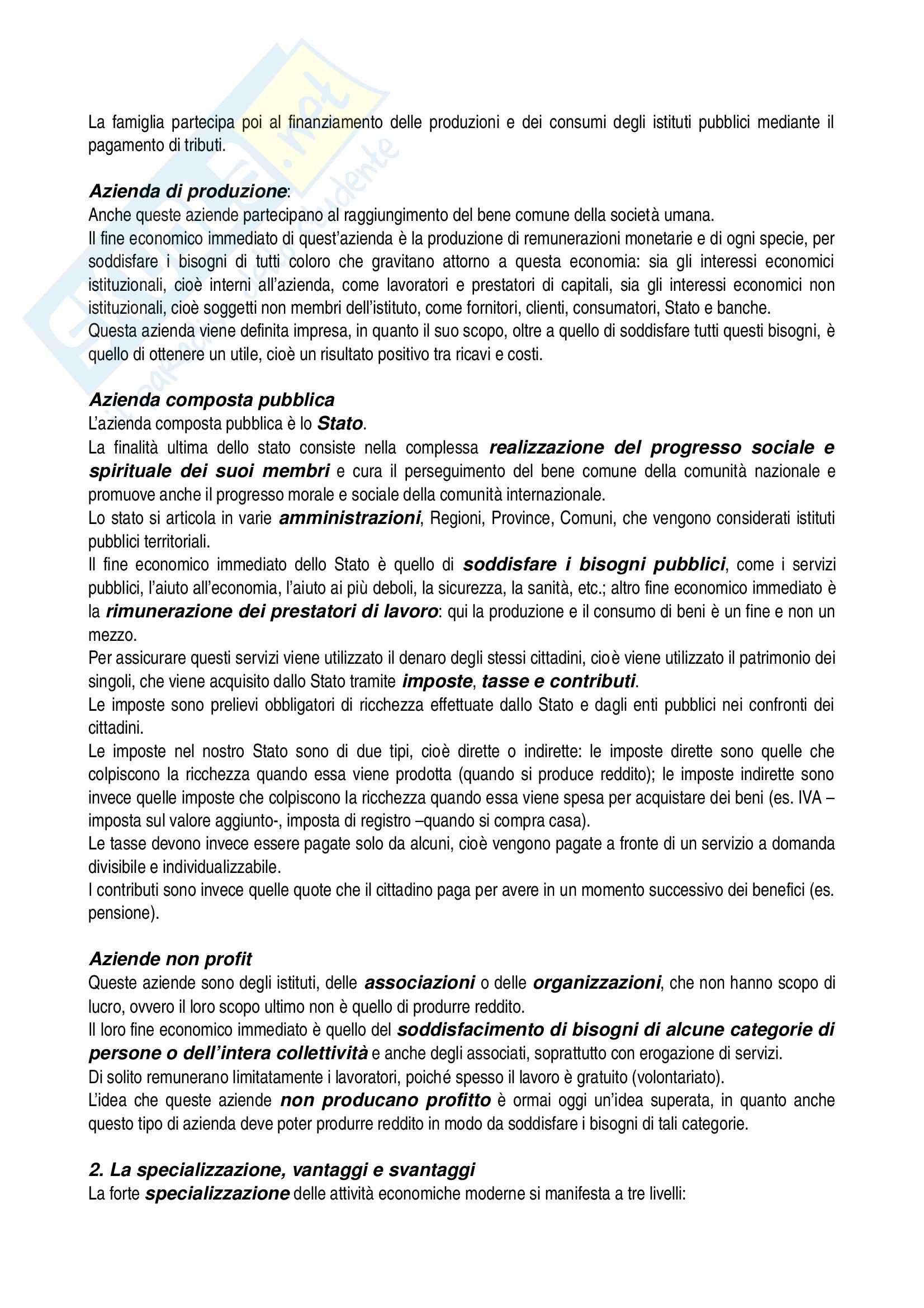 Riassunto esame Economia aziendale, prof. Confalonieri, libro consigliato Corso di economia aziendale, Airoldi, Brunetti, Coda Pag. 6