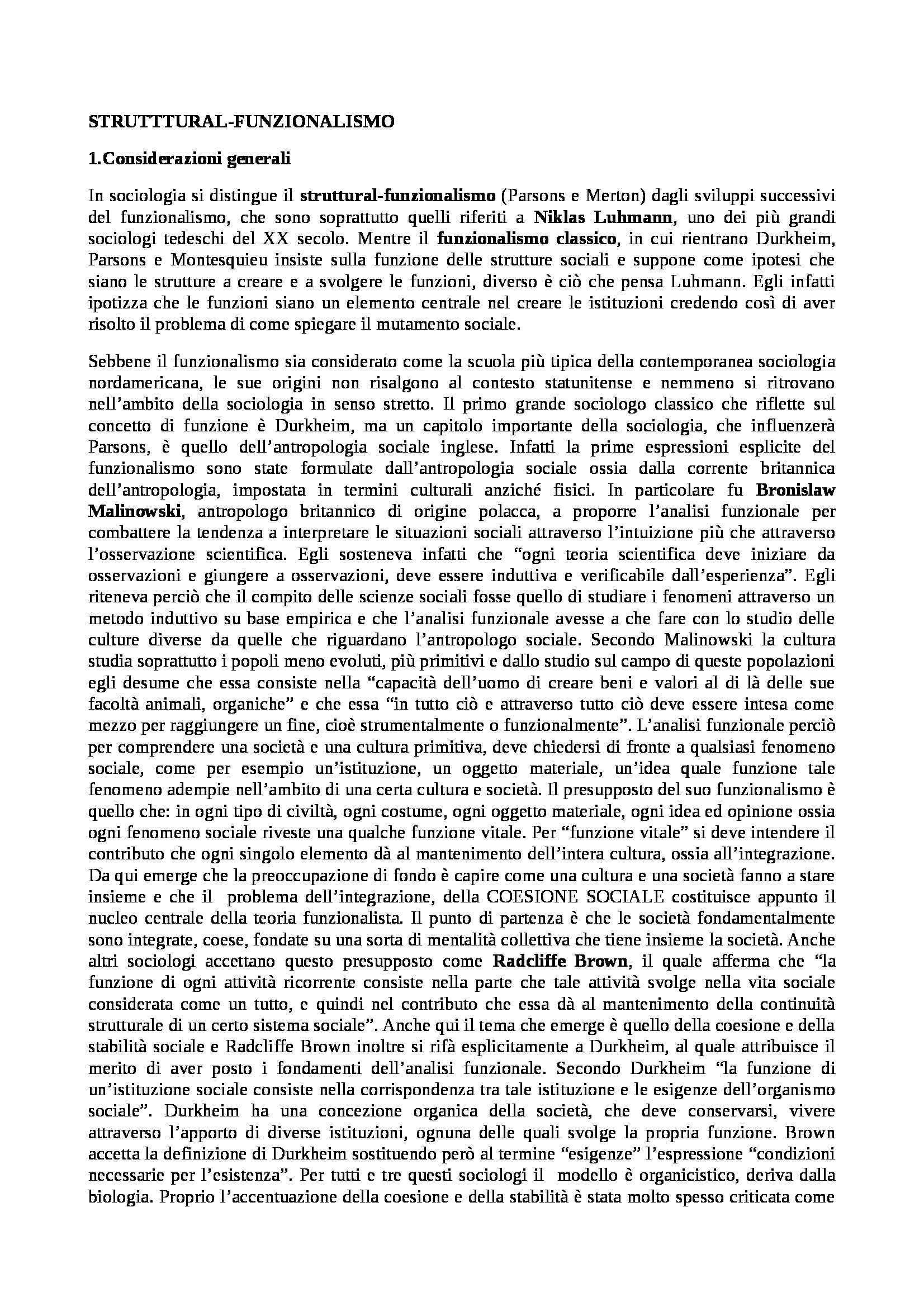 Sociologia dei processi culturali - Appunti