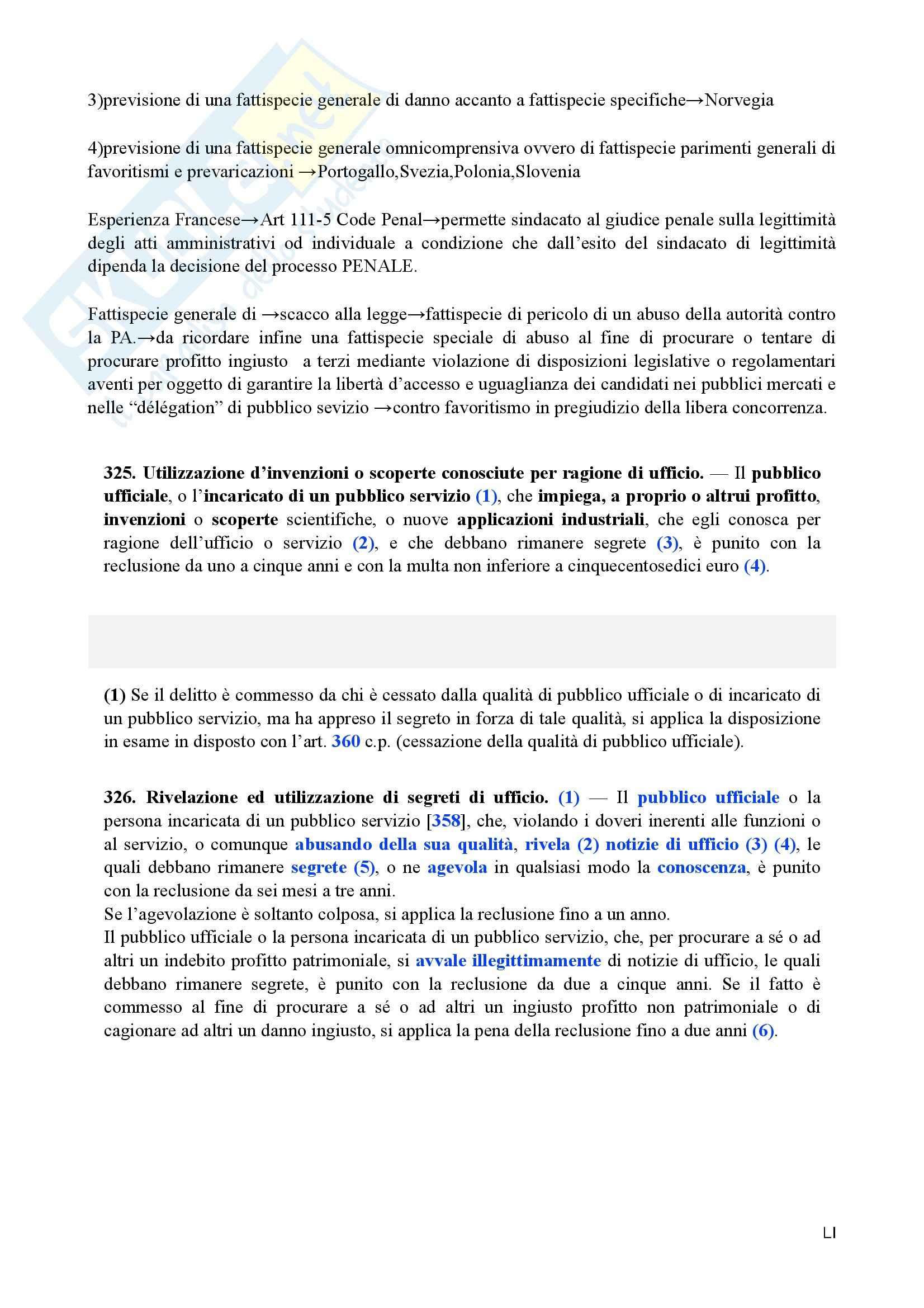Diritto penale avanzato - i reati contro la Pubblica Amministrazione Pag. 51