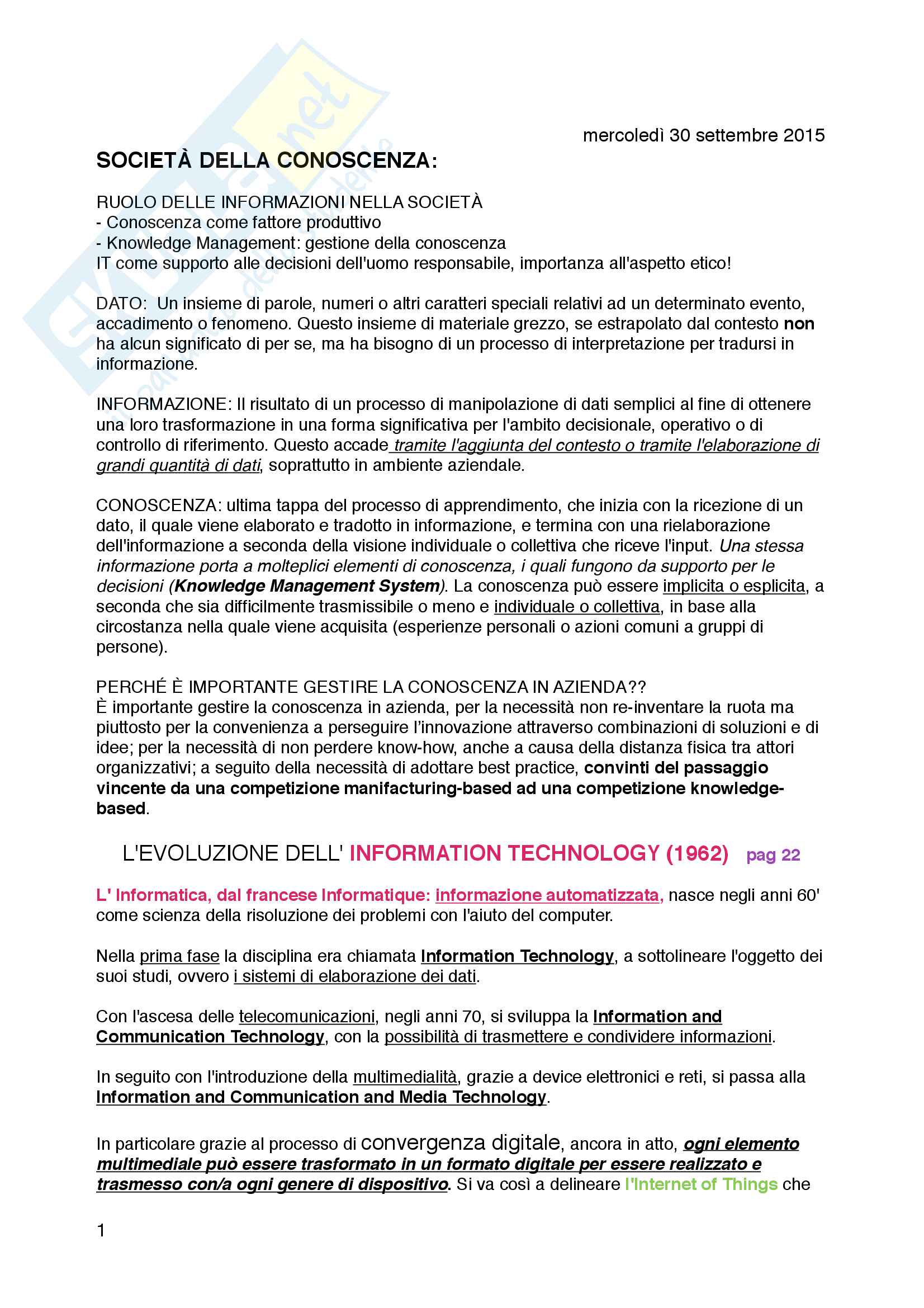 Informatica generale - programma completo