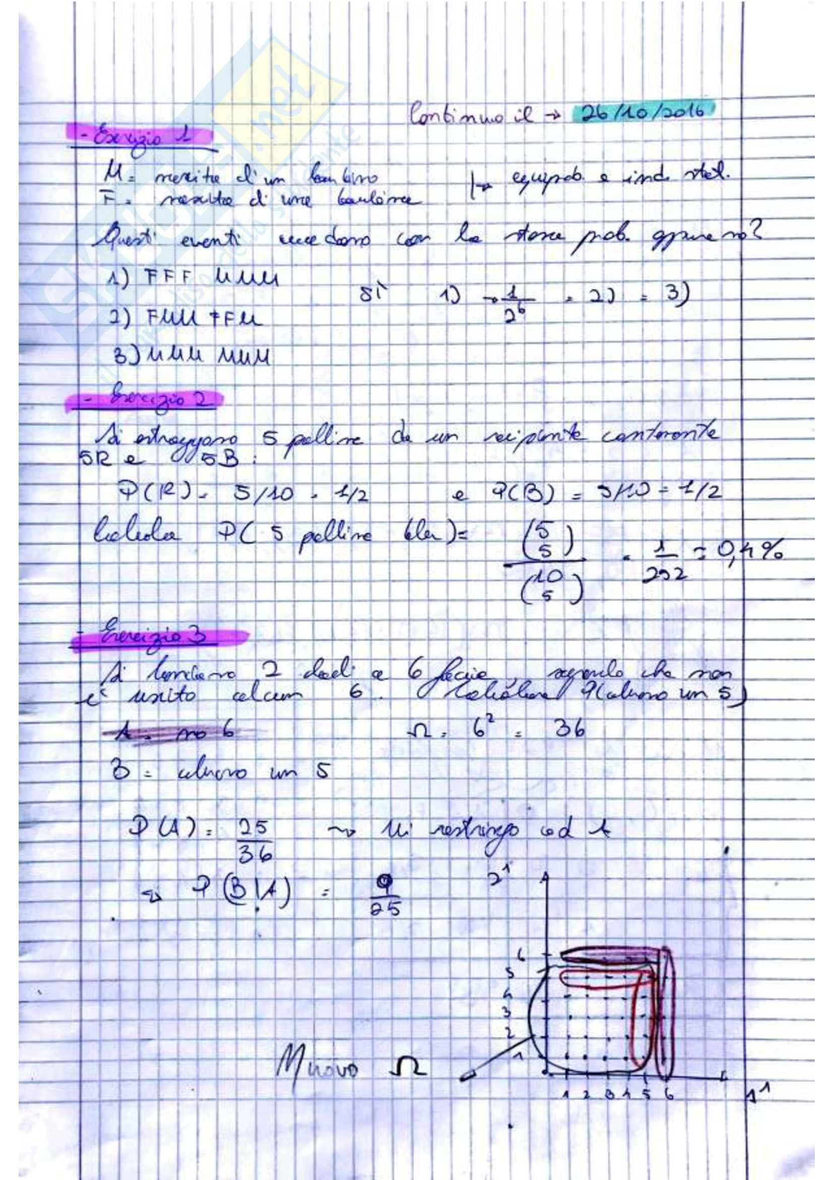 Teoria della Probabilità (2di3)