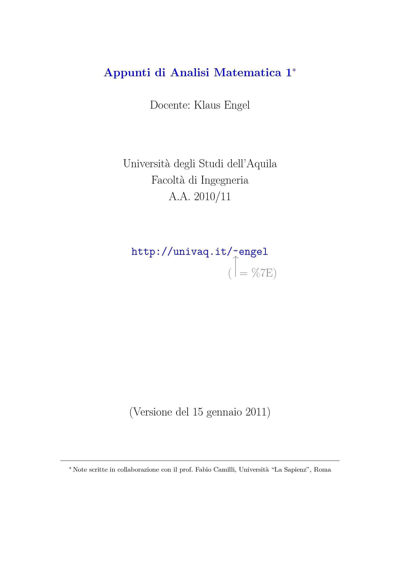 Analisi Matematica - Concetti fondamentali