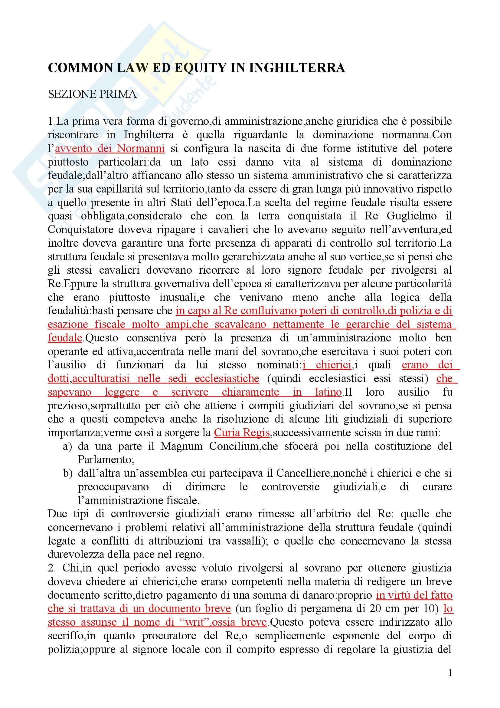 Riassunto esame Diritto privato, prof. Martini, libro consigliato Sistemi giuridici comparati, Gambaro Sacco