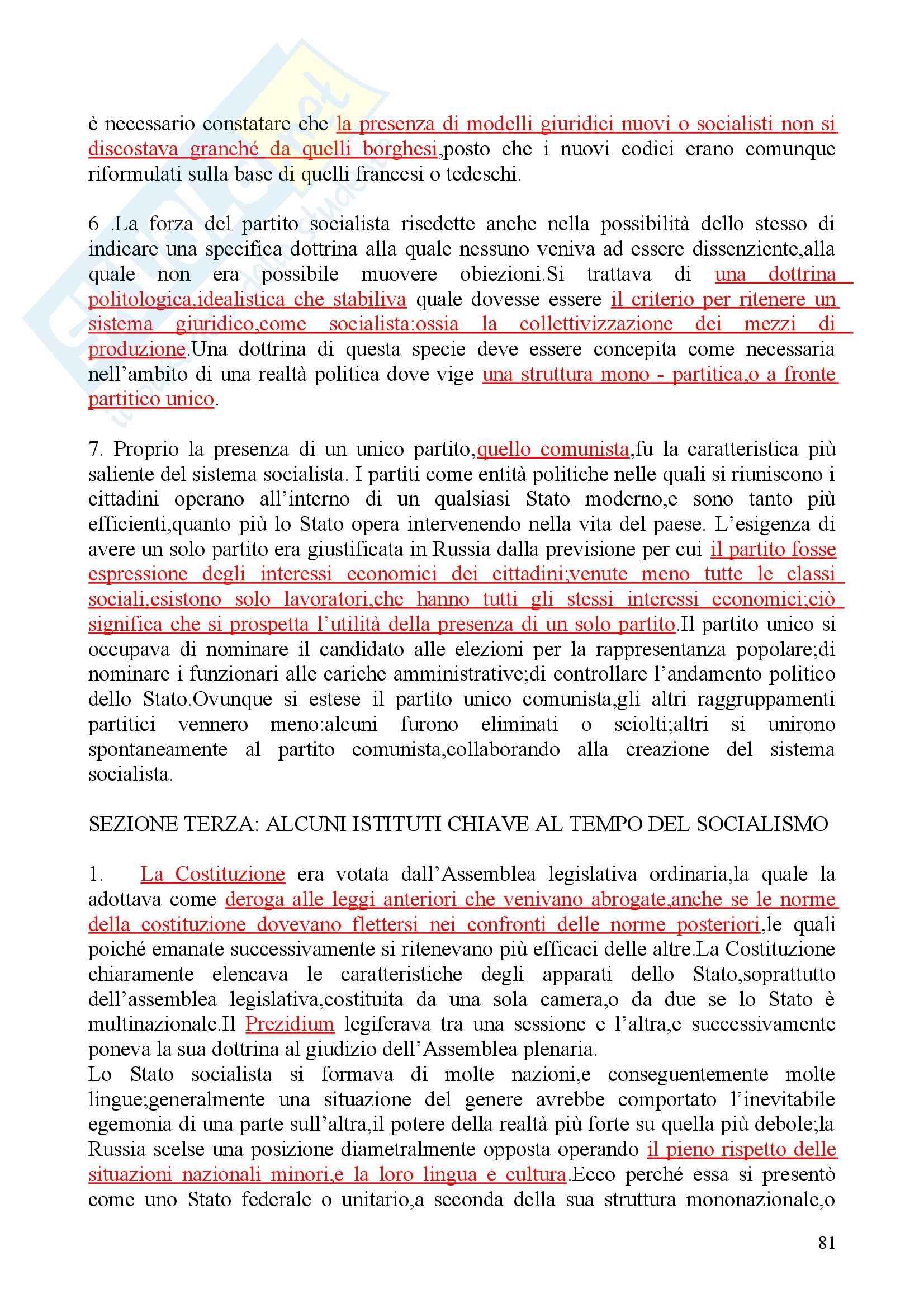 Riassunto esame Diritto privato, prof. Martini, libro consigliato Sistemi giuridici comparati, Gambaro Sacco Pag. 81