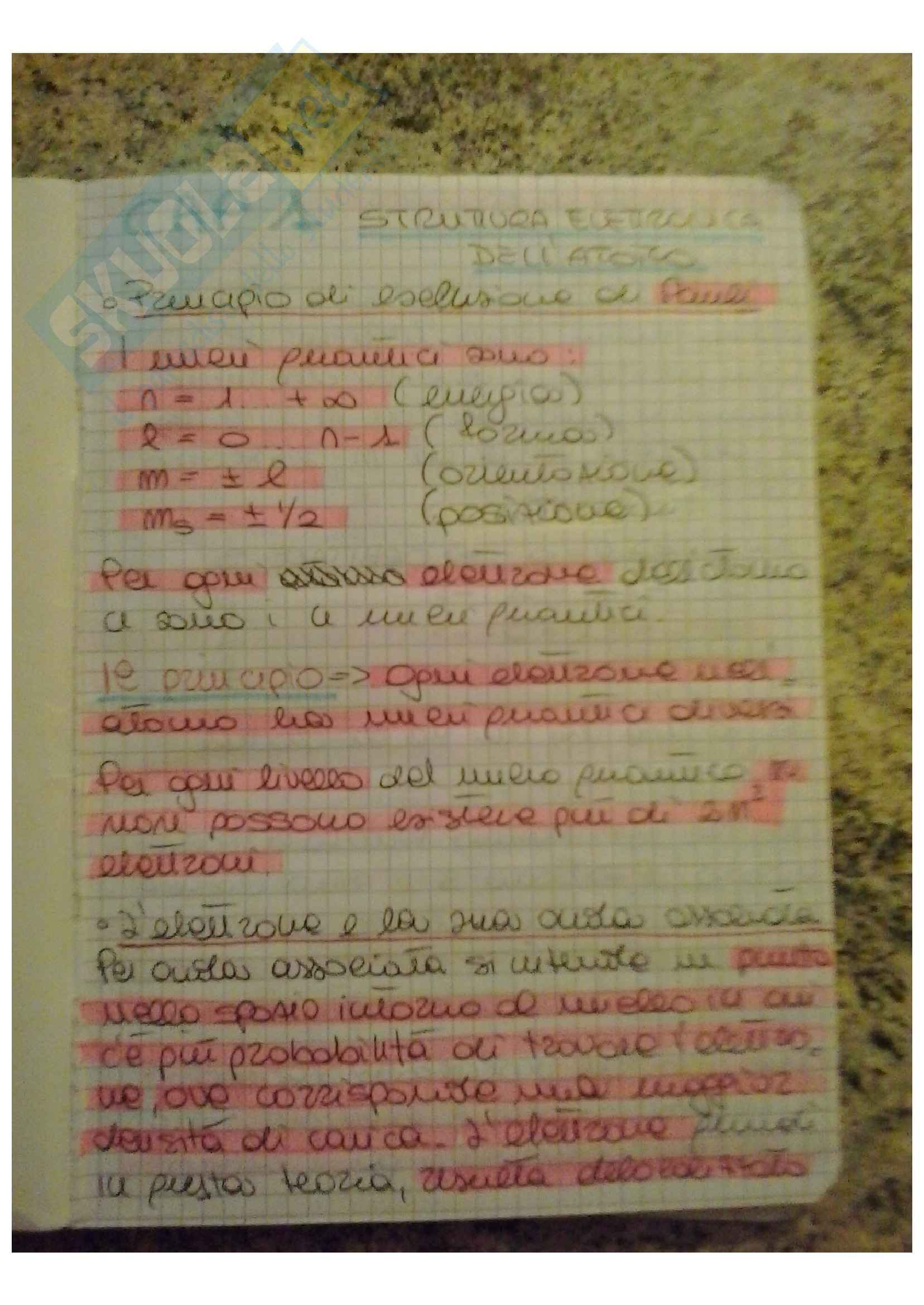 Riassunto esame Chimica, prof. Nardis, libro consigliato Fondamenti di chimica, Silvestroni