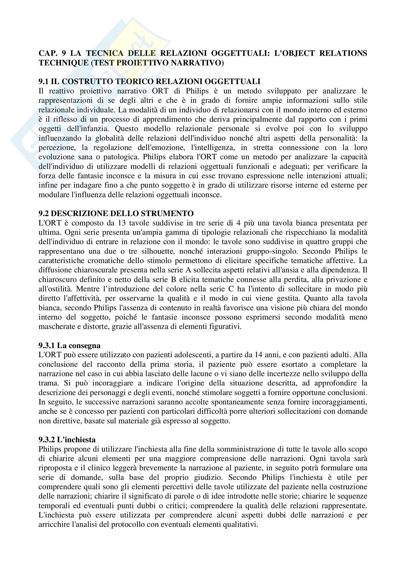 Riassunto esame Valutazione Diagnostica, prof. Guariglia, libro consigliato I Dieci Test che lo Psicologo Deve Conoscere, Lang Pag. 21