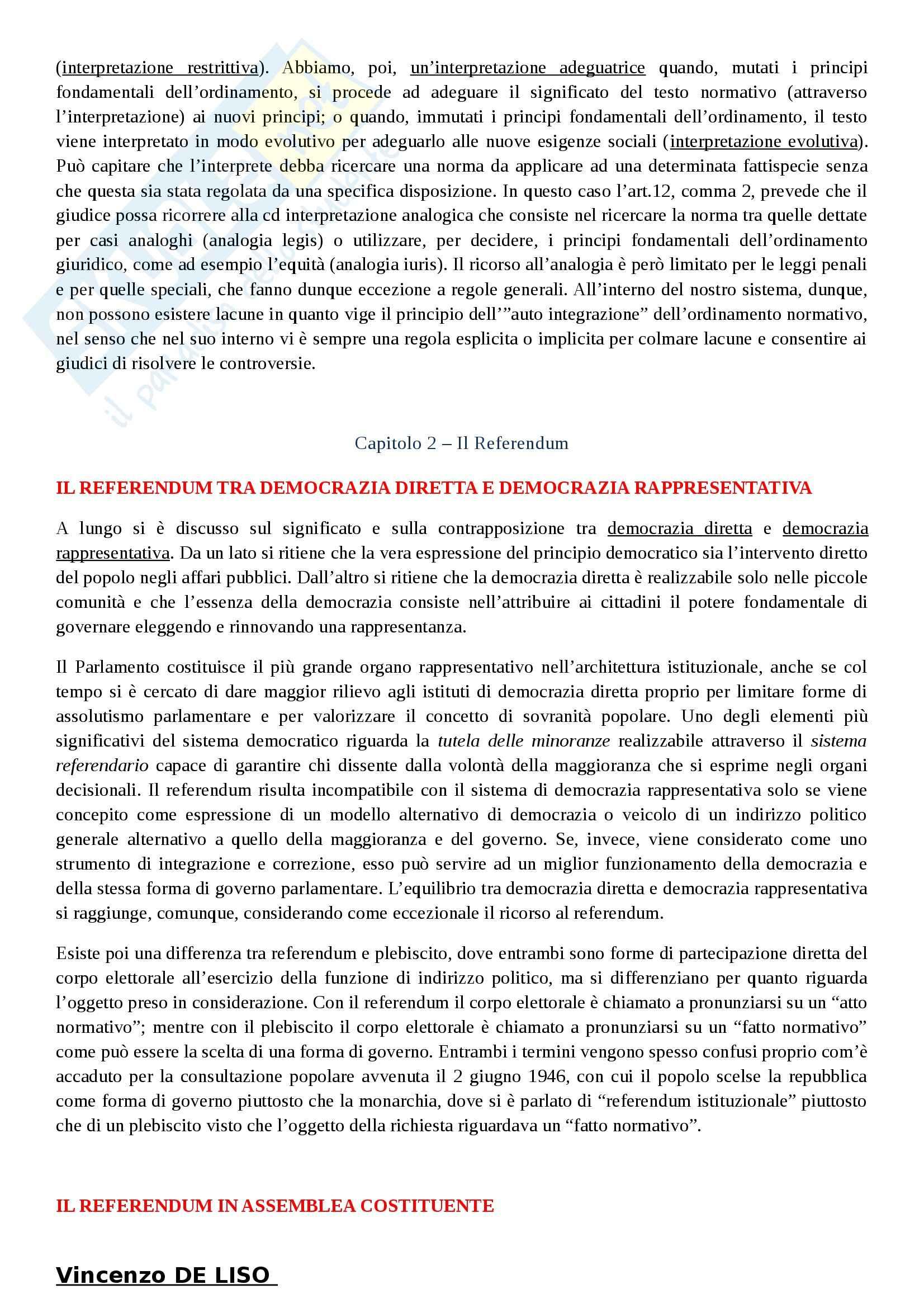 Riassunto esame Diritto Costituzionale, prof. Villone, libro consigliato La Costituzione italiana, Diddi Nardi, Coen Pag. 16