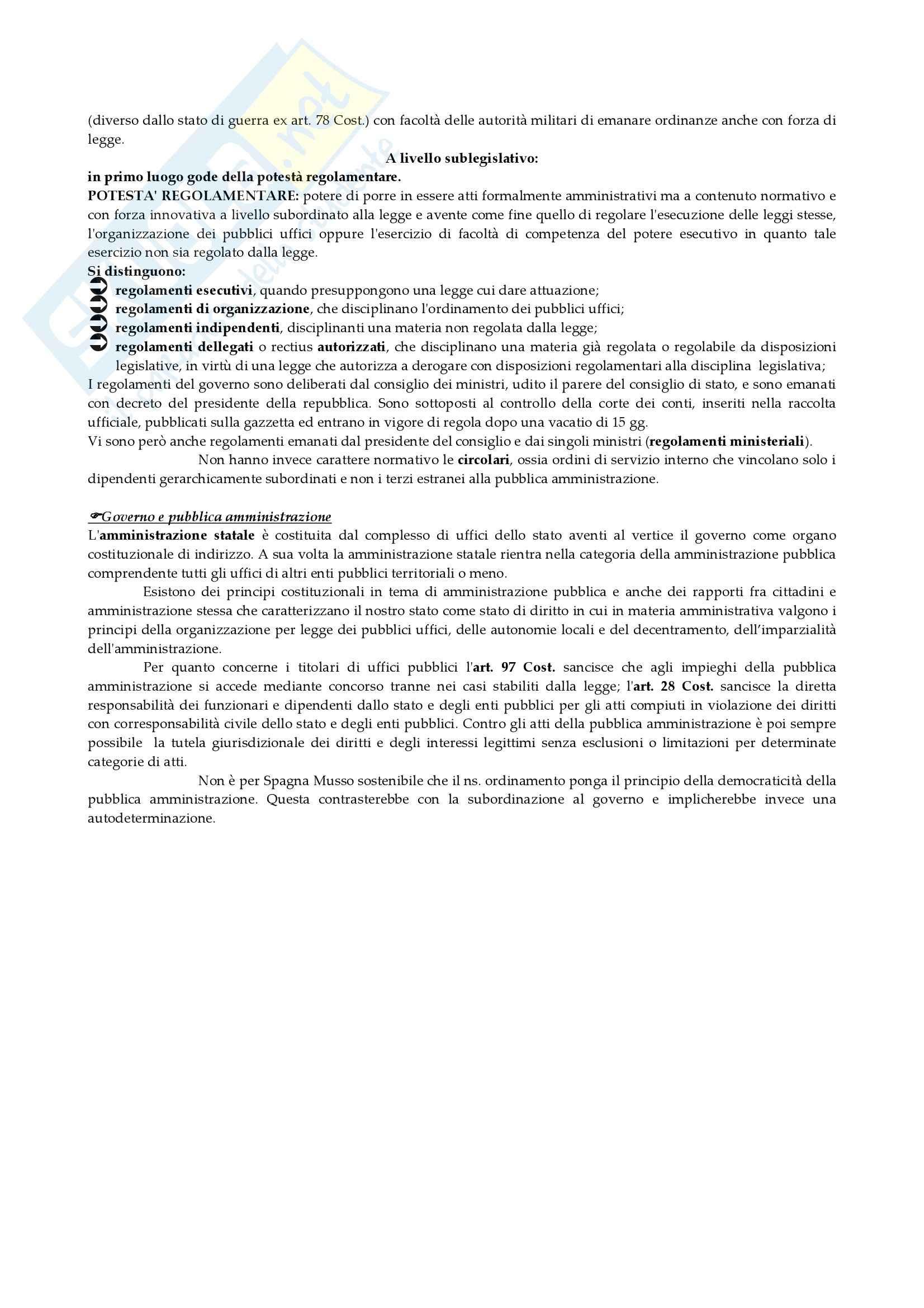 Diritto costituzionale - il Governo Pag. 6
