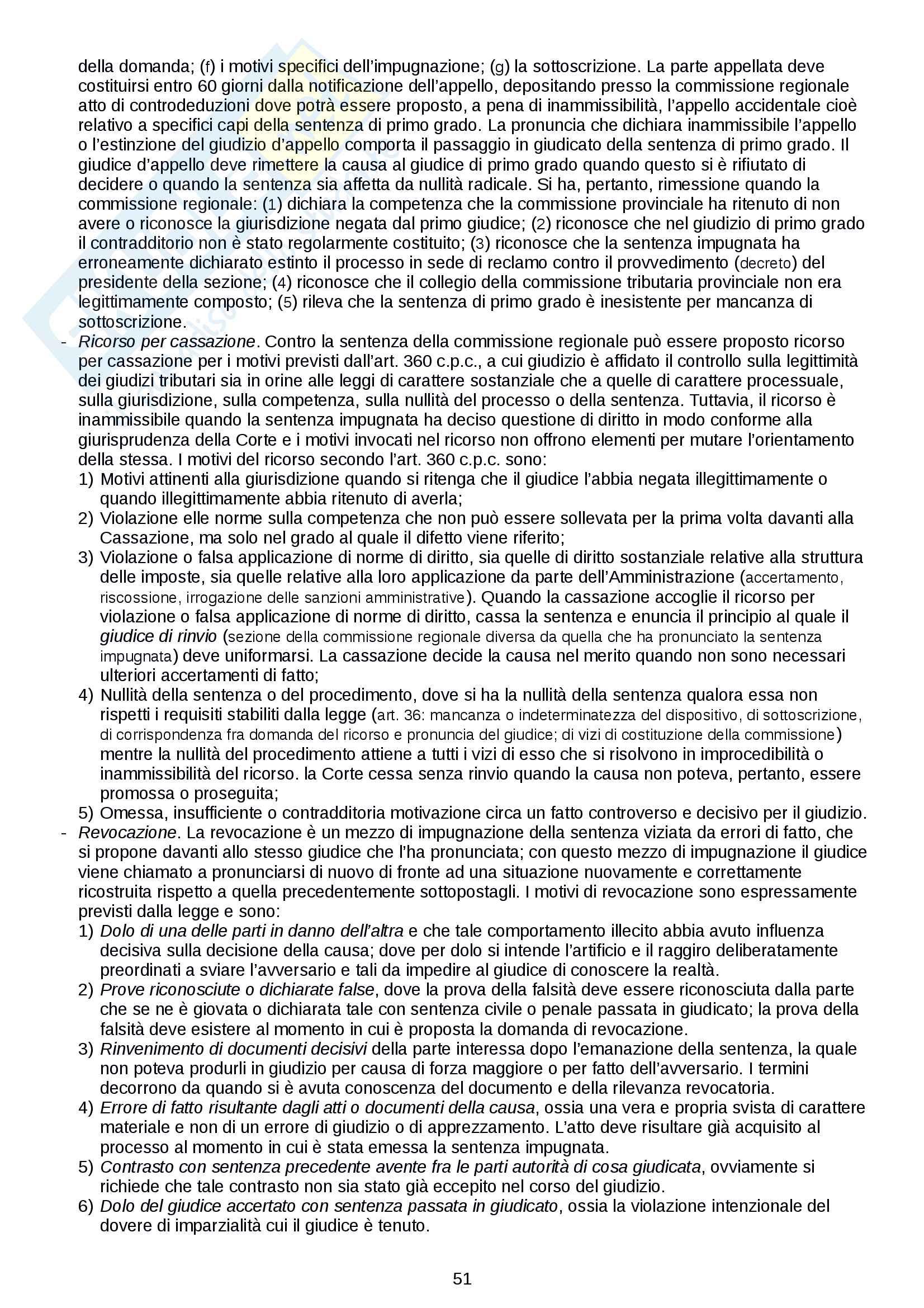 """Riassunto esame Diritto tributario, prof. Logozzo, libri consigliati """"Principi di diritto tributario"""", De Mita e """"Lineamenti di diritto tributario internazionale"""", Tosi Pag. 51"""
