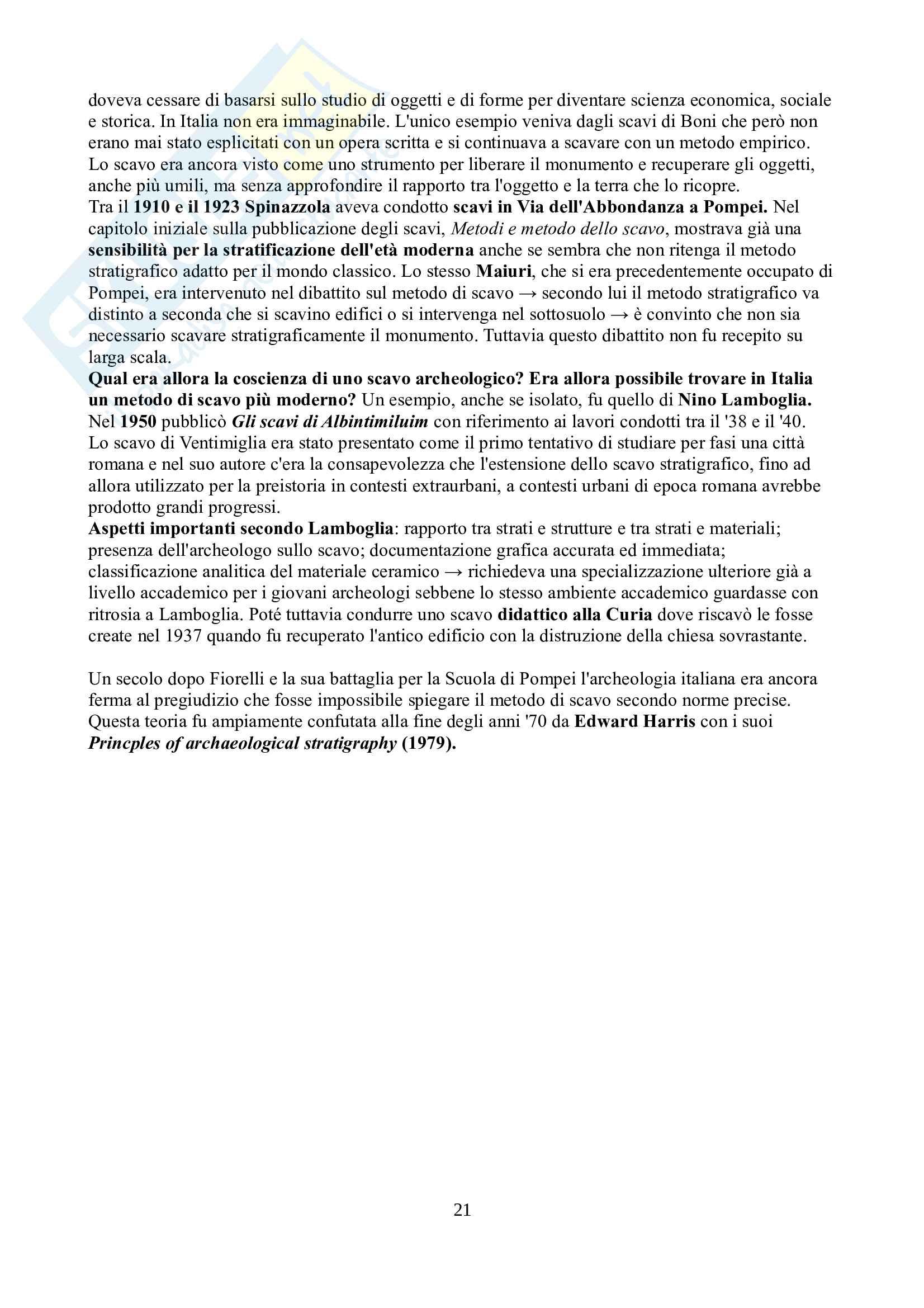 Riassunto esame Archeologia e storia dell'arte greca e romana, prof. Barbanera, libro consigliato Storia dell'archeologia classica, Barbanera Pag. 21