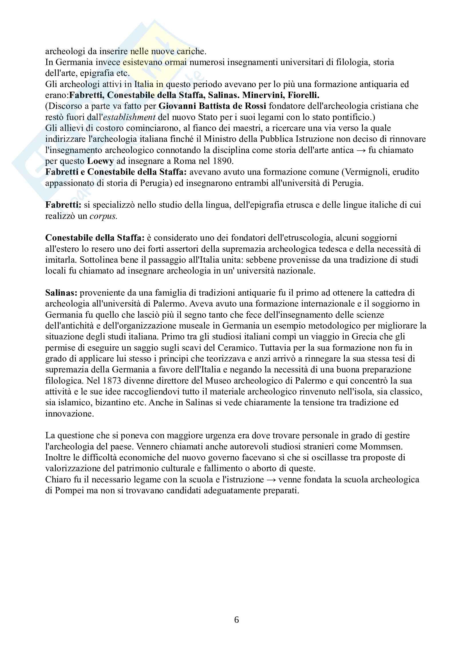 Riassunto esame Archeologia e storia dell'arte greca e romana, prof. Barbanera, libro consigliato Storia dell'archeologia classica, Barbanera Pag. 6