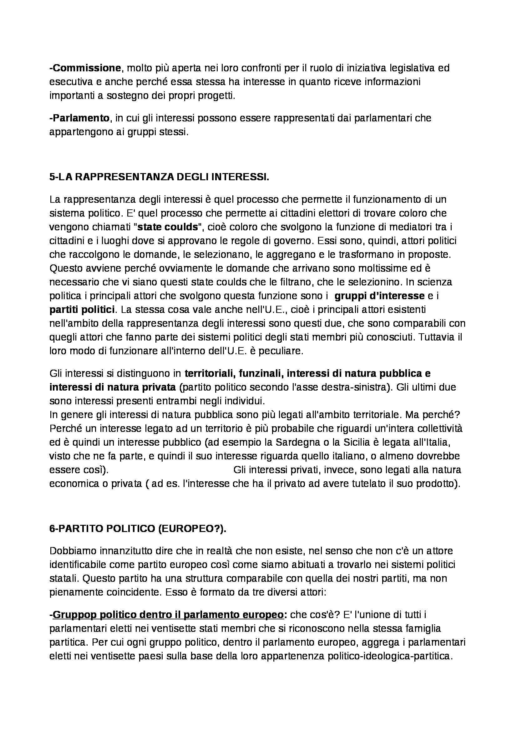Politica dell'Unione Europea - Appunti Pag. 11