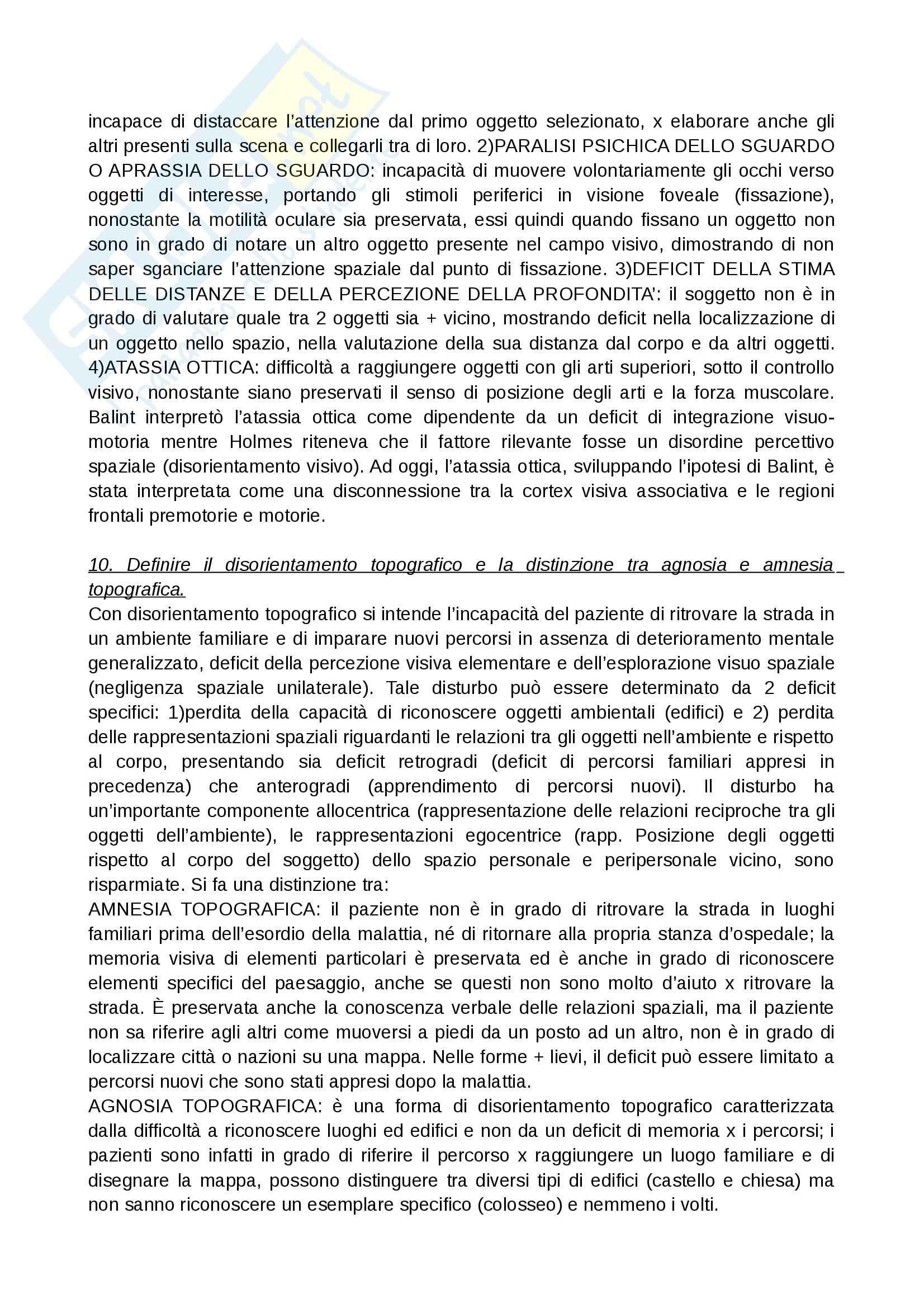 Neuroscienze - domande  e risposte Pag. 26