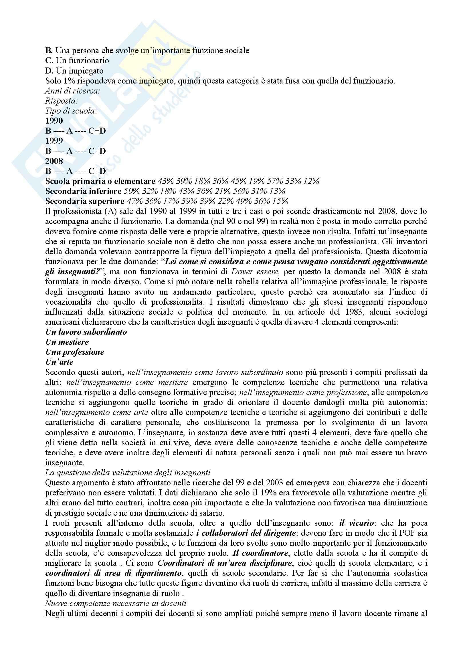 Riassunto esame Sociologia dell'educazione, prof. Rovelli, libro consigliato Sociologia dell'educazione, Fischer Pag. 21