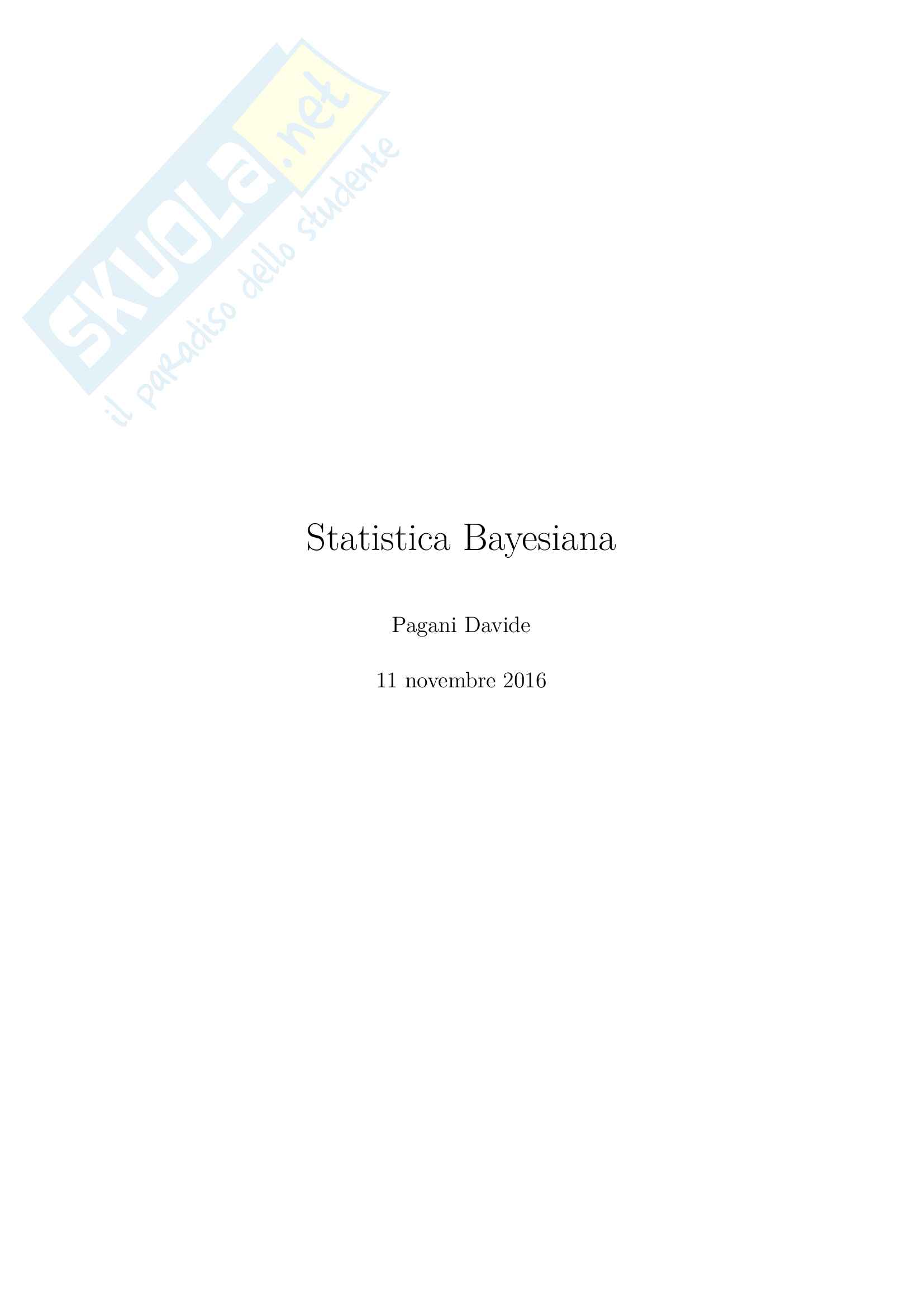 Statistica Bayesiana