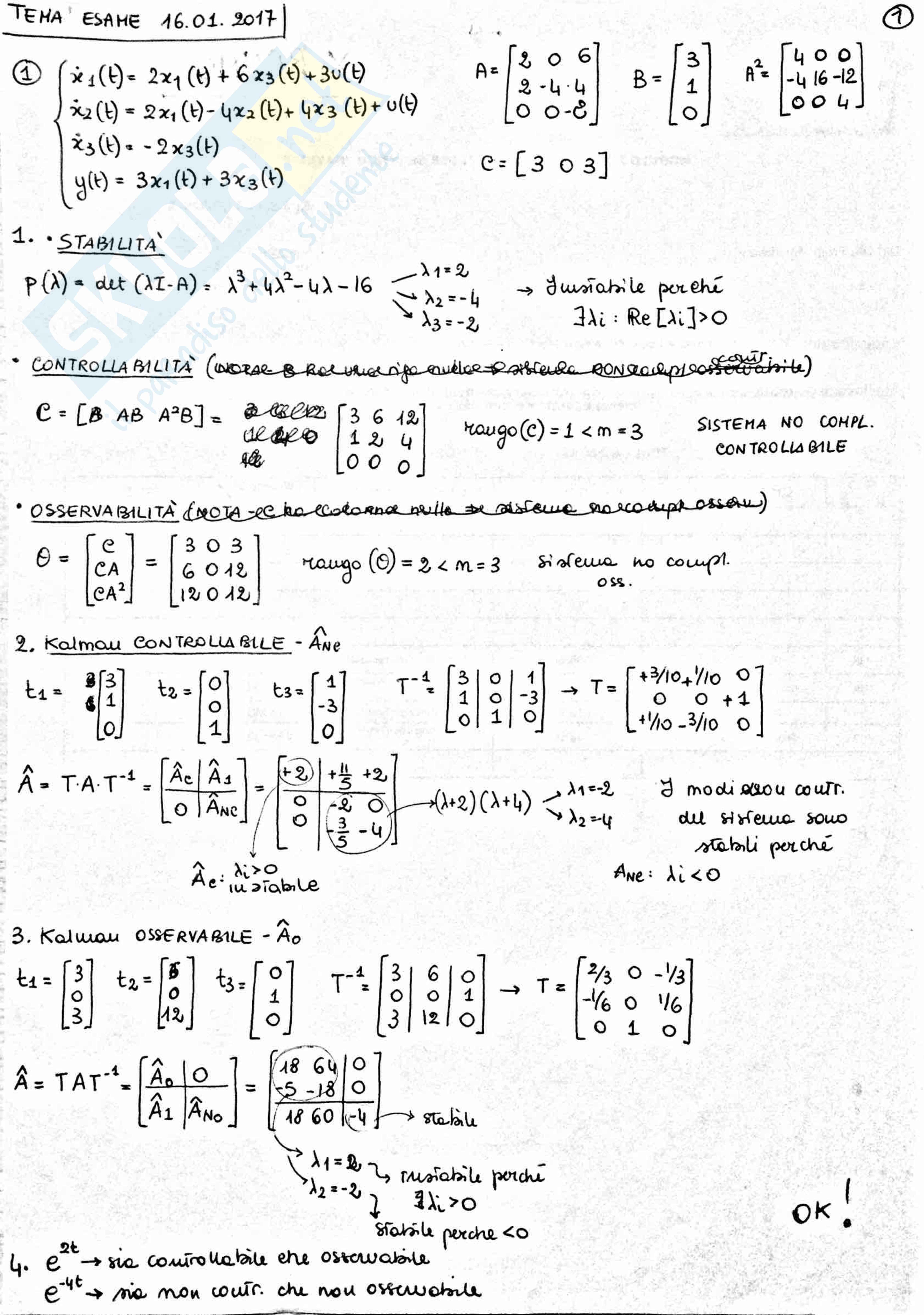 Fondamenti di Automatica, Monteriù - Teoria + esempi + esami svolti Pag. 96
