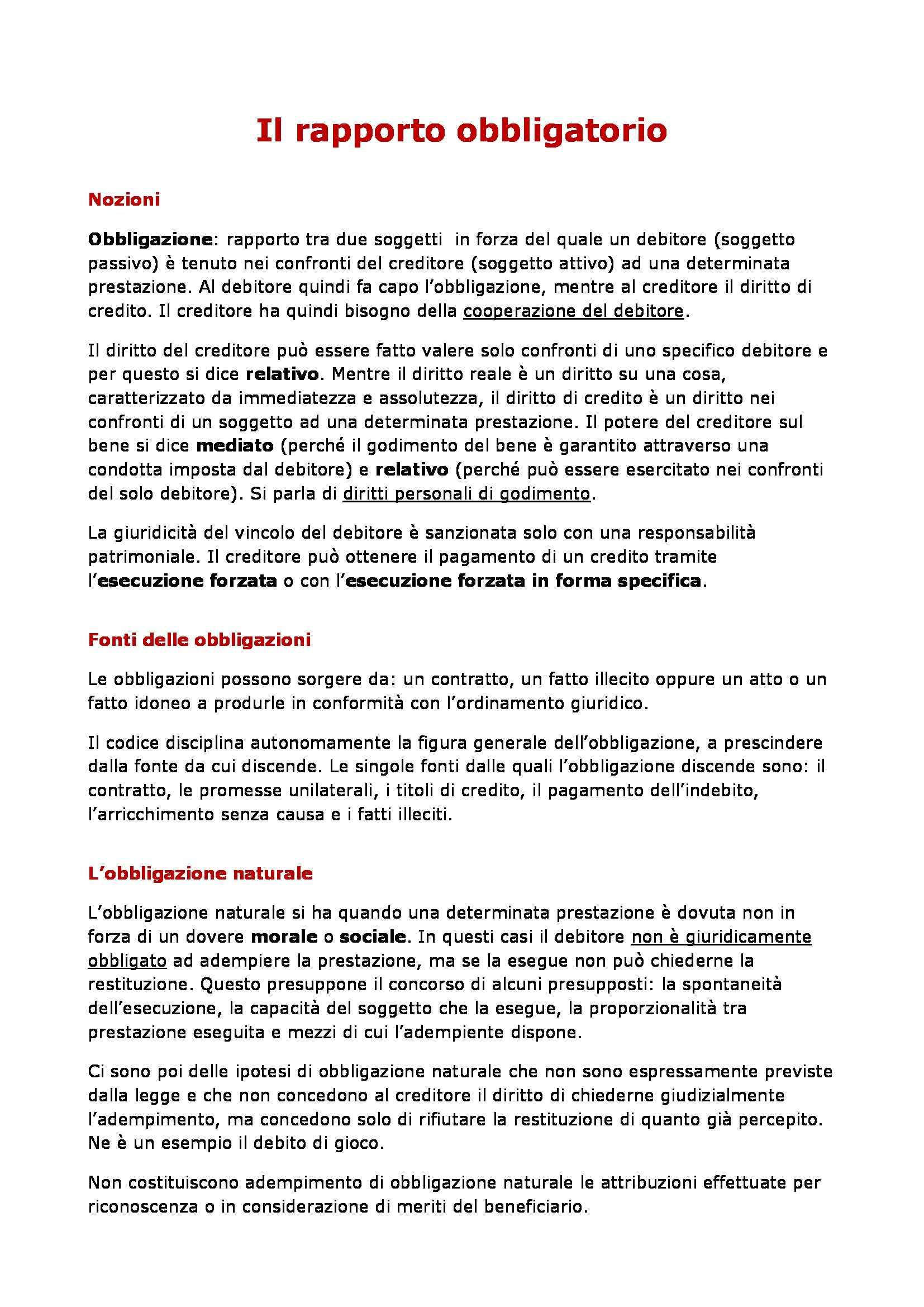 Diritto privato - diritti di credito Pag. 2