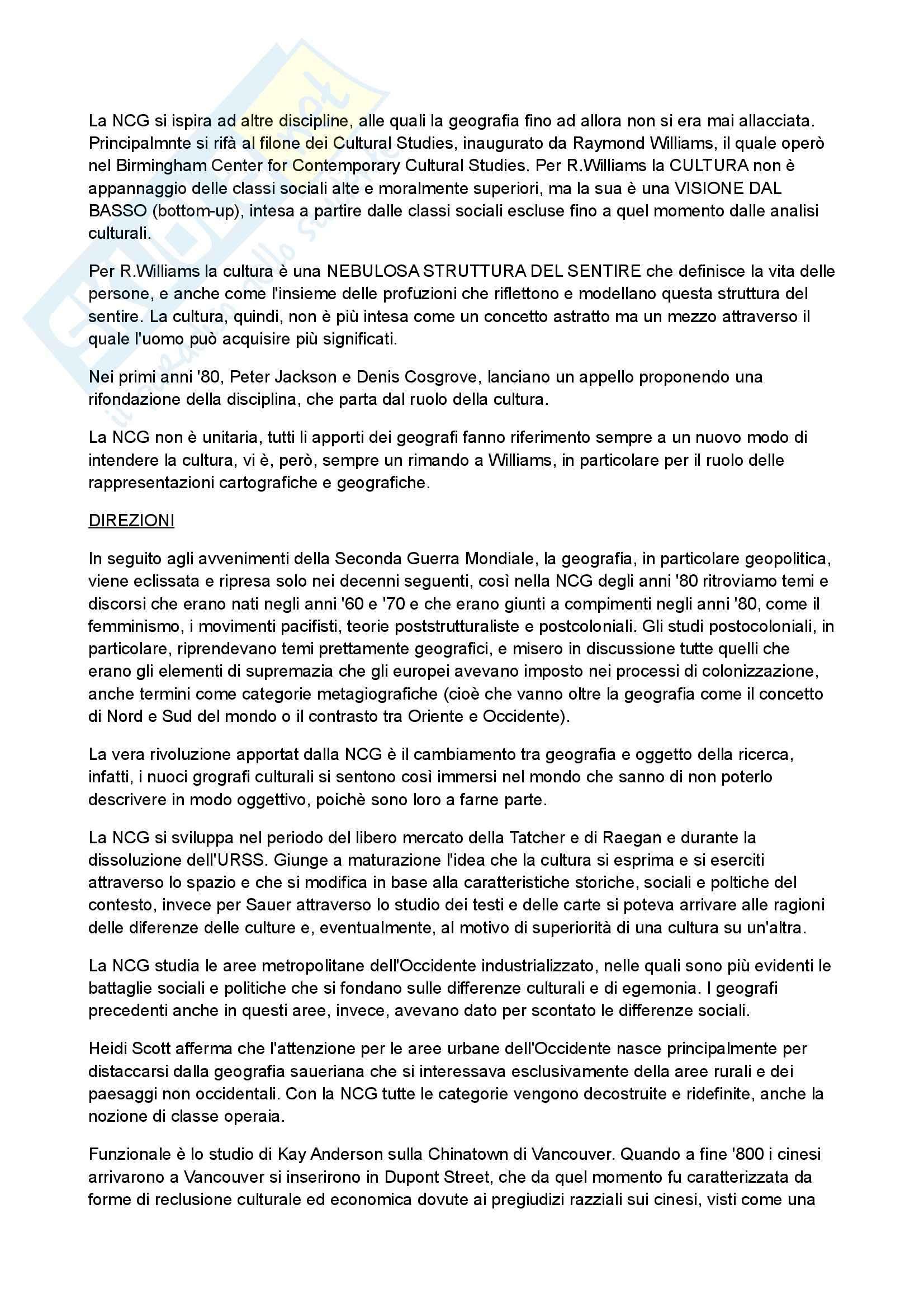 Riassunto esame geografia, prof. D'Alessandro, libro consigliato Manuale di Geografia Culturale, Bonazzi Pag. 2