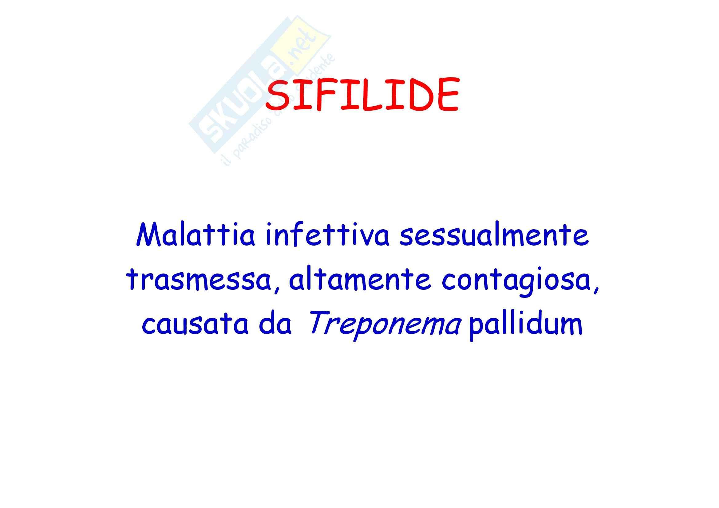 Dermatologia e chirurgia plastica - la sifilide