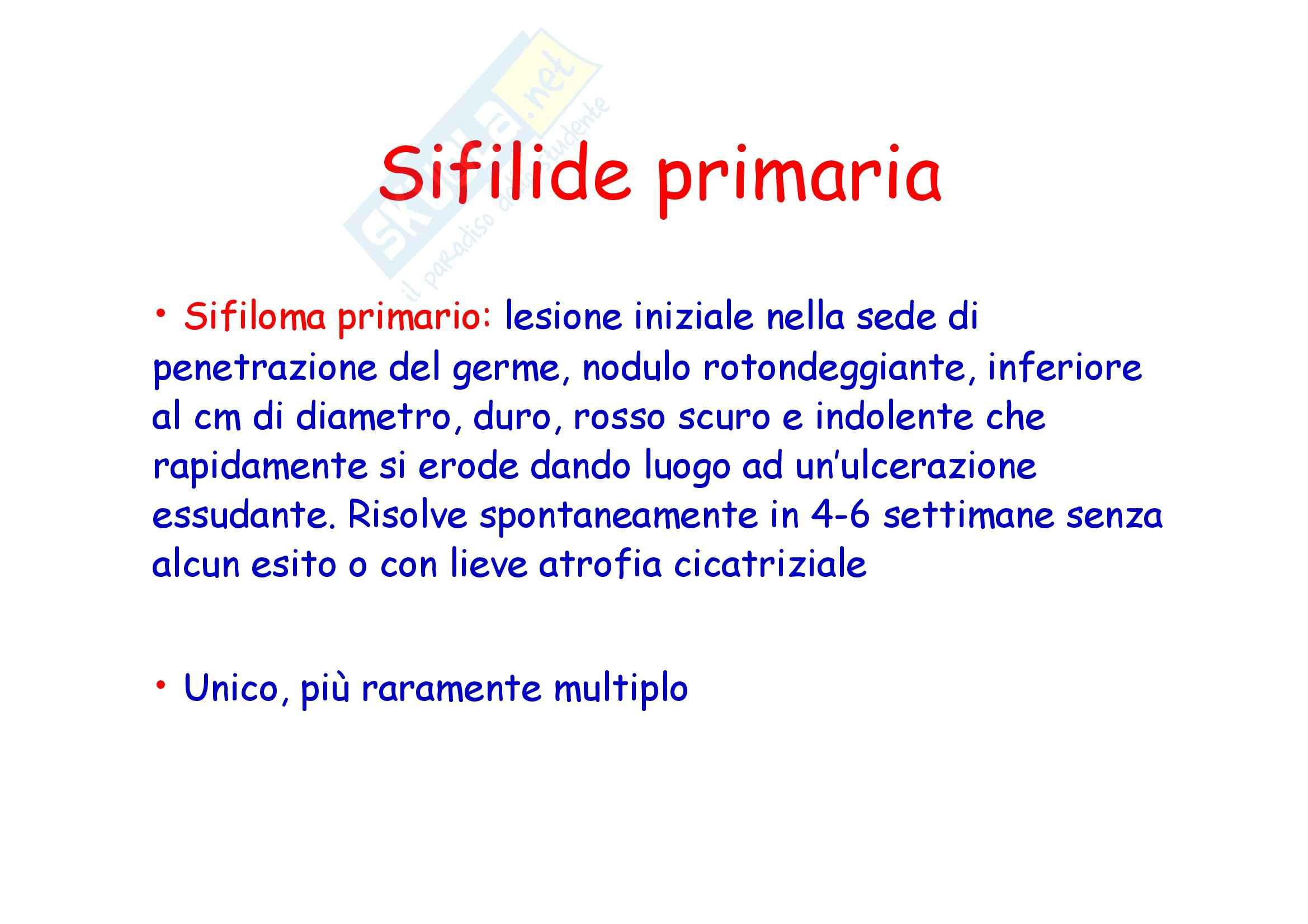 Dermatologia e chirurgia plastica - la sifilide Pag. 6